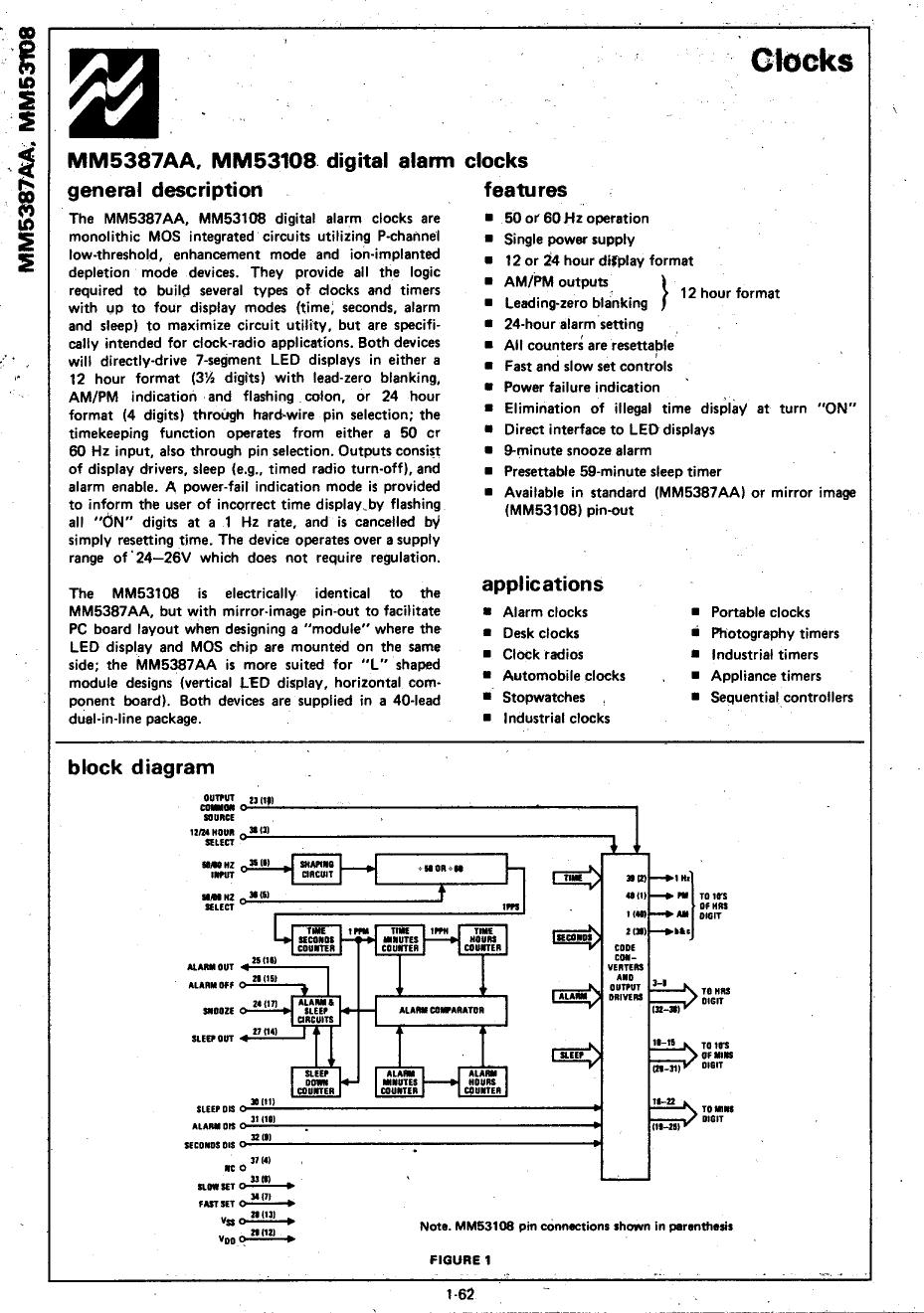 MM53108 Datasheet, MM53108 PDF,ピン配置, 機能