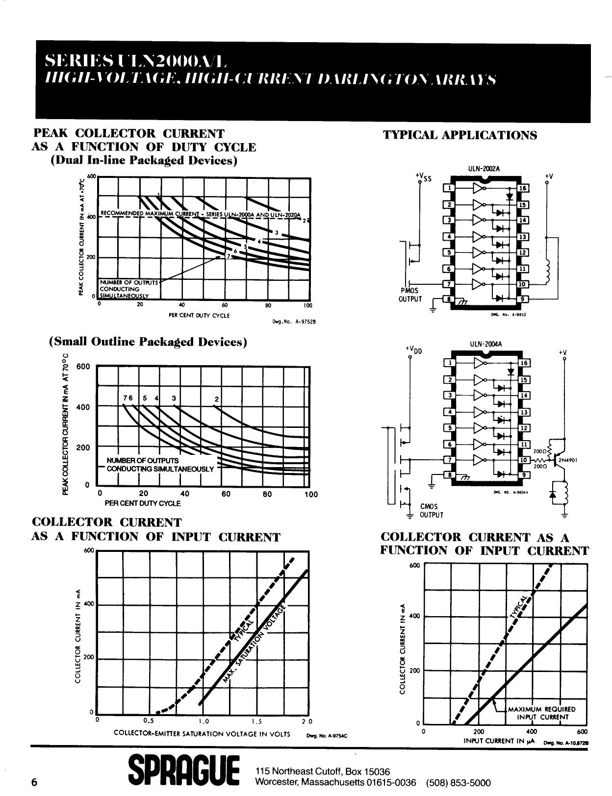 ULN2004A 電子部品, 半導体