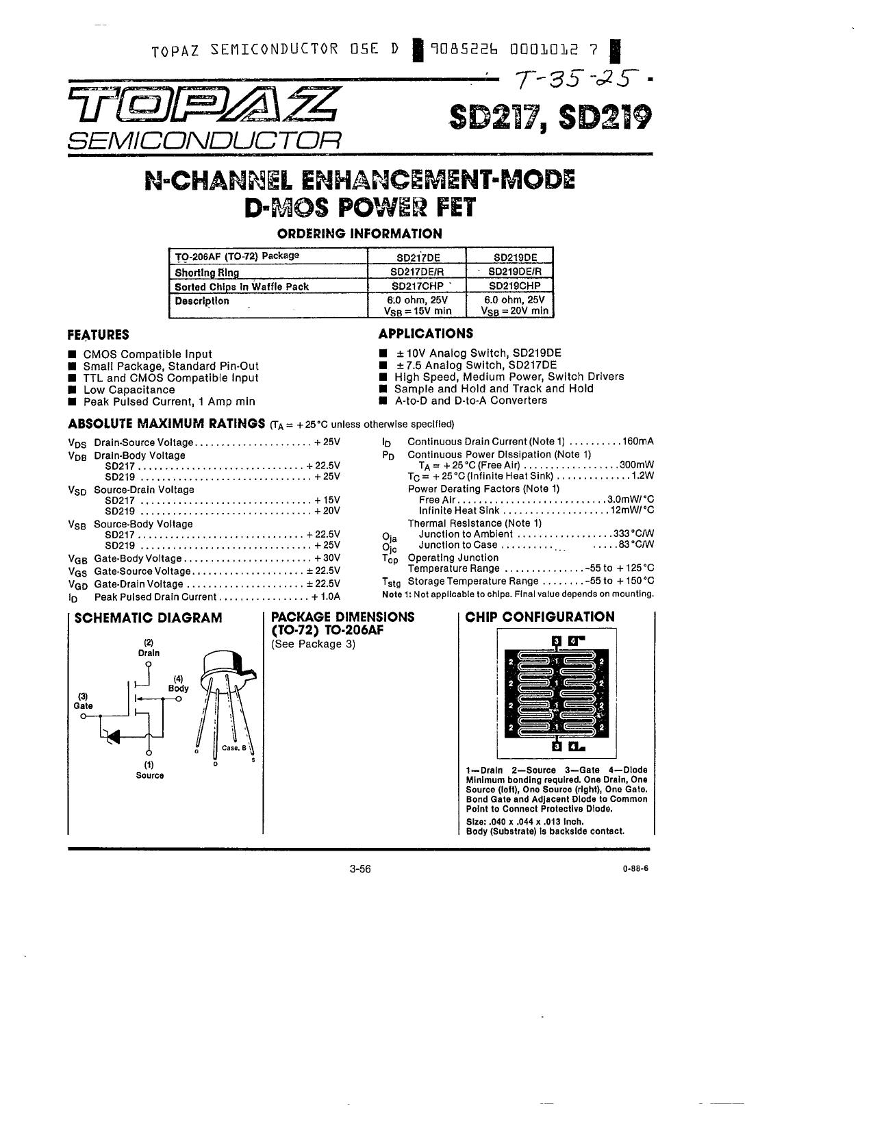 SD219 دیتاشیت PDF
