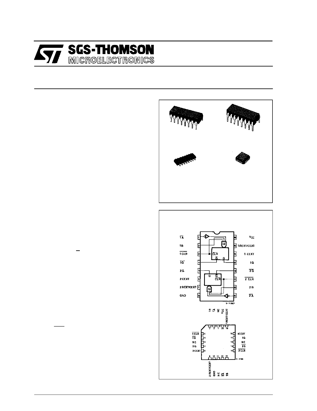 M54HC123C1R دیتاشیت PDF