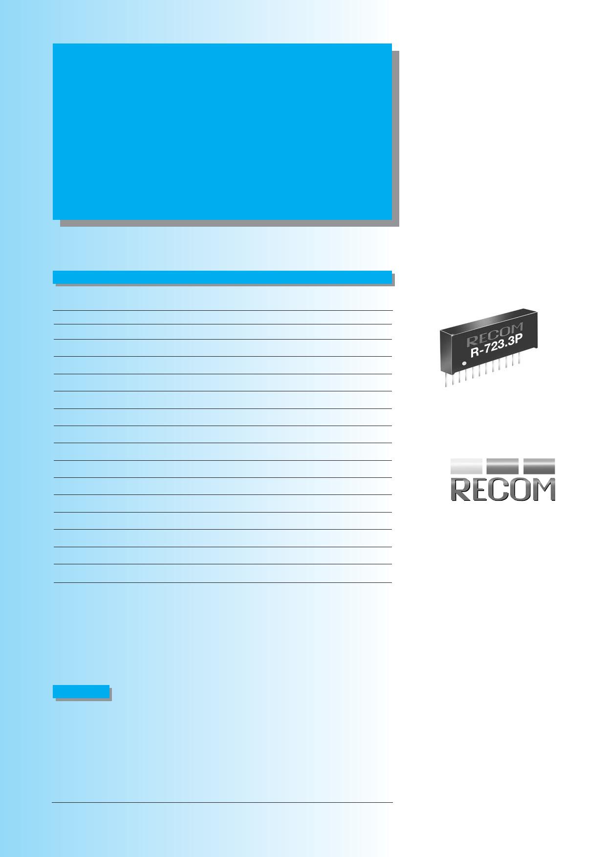 R-723.3P Hoja de datos, Descripción, Manual