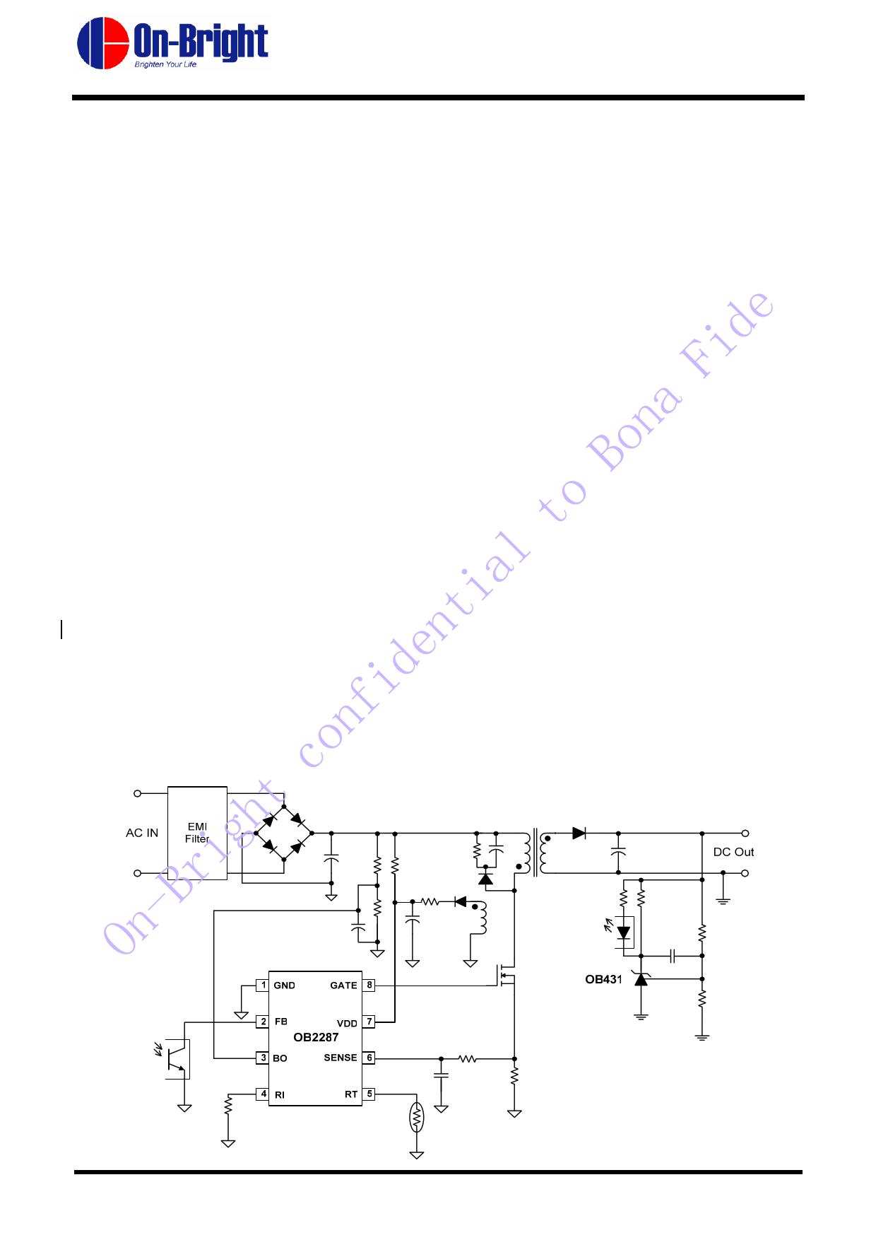 OB2287 دیتاشیت PDF