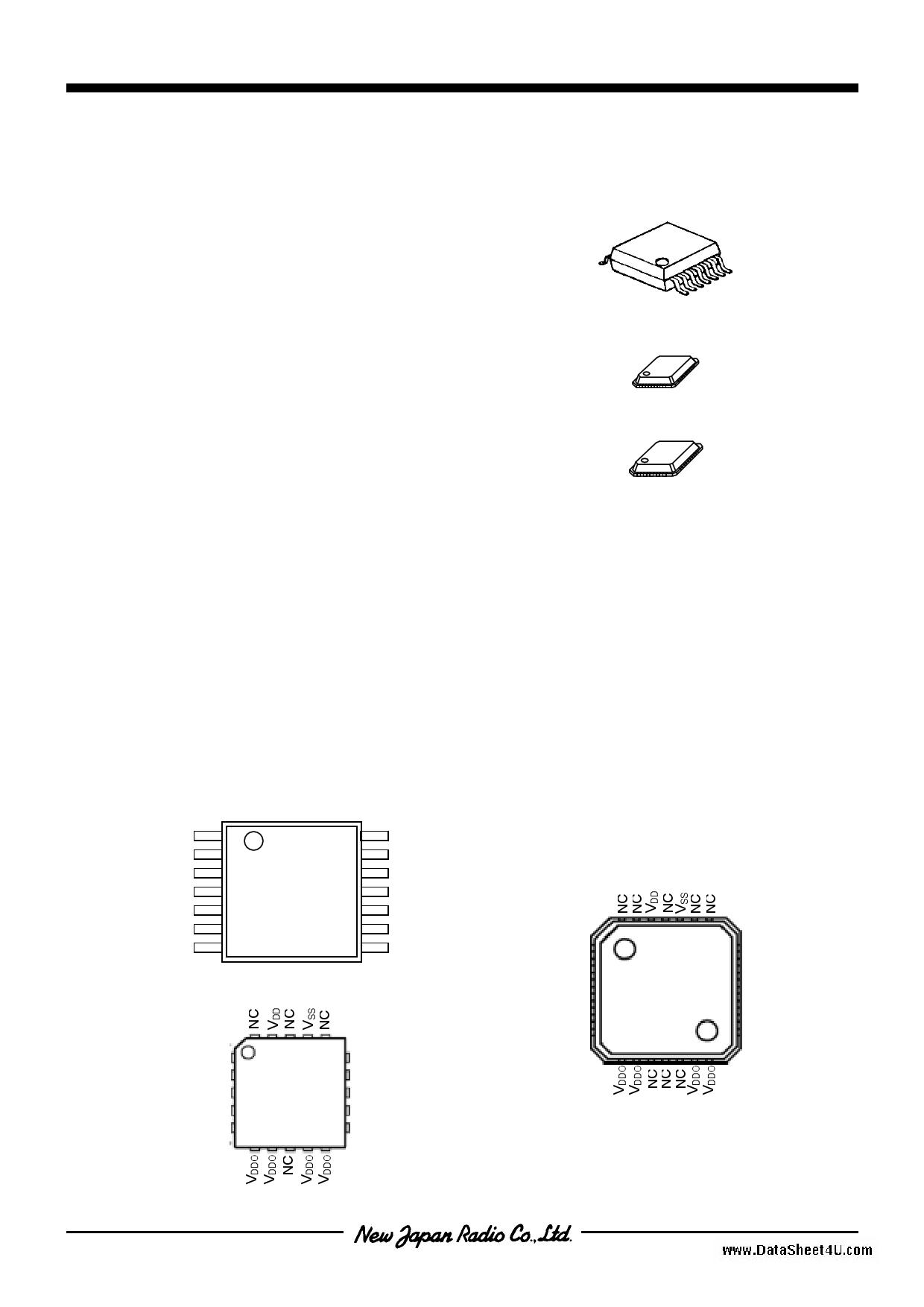 NJU8752 دیتاشیت PDF