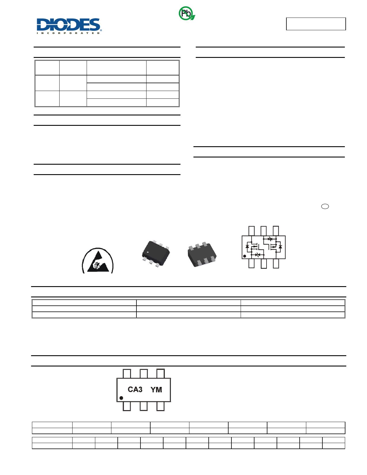 DMC2400UV datasheet