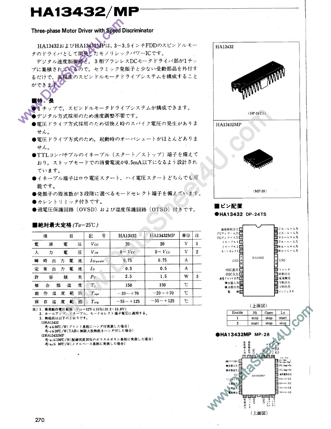 HA13432 دیتاشیت PDF
