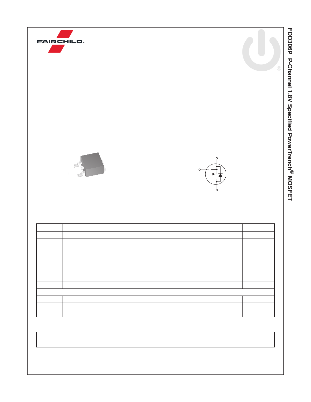 FDD306P 데이터시트 및 FDD306P PDF