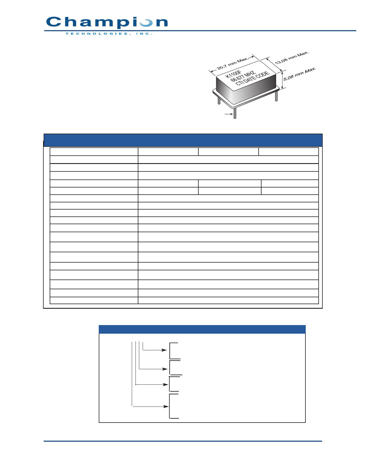 K1100F دیتاشیت PDF