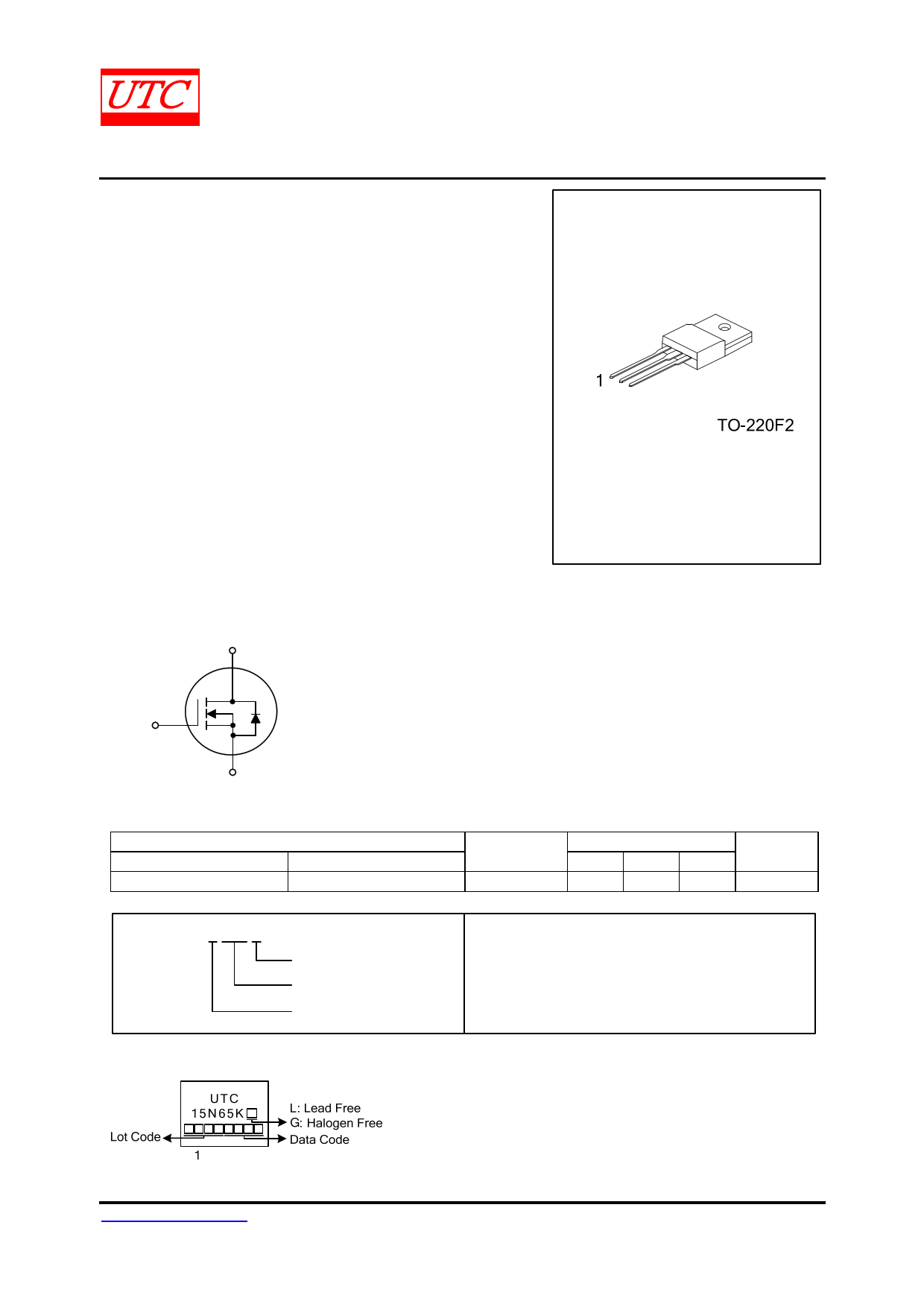 15N65K-MT datasheet