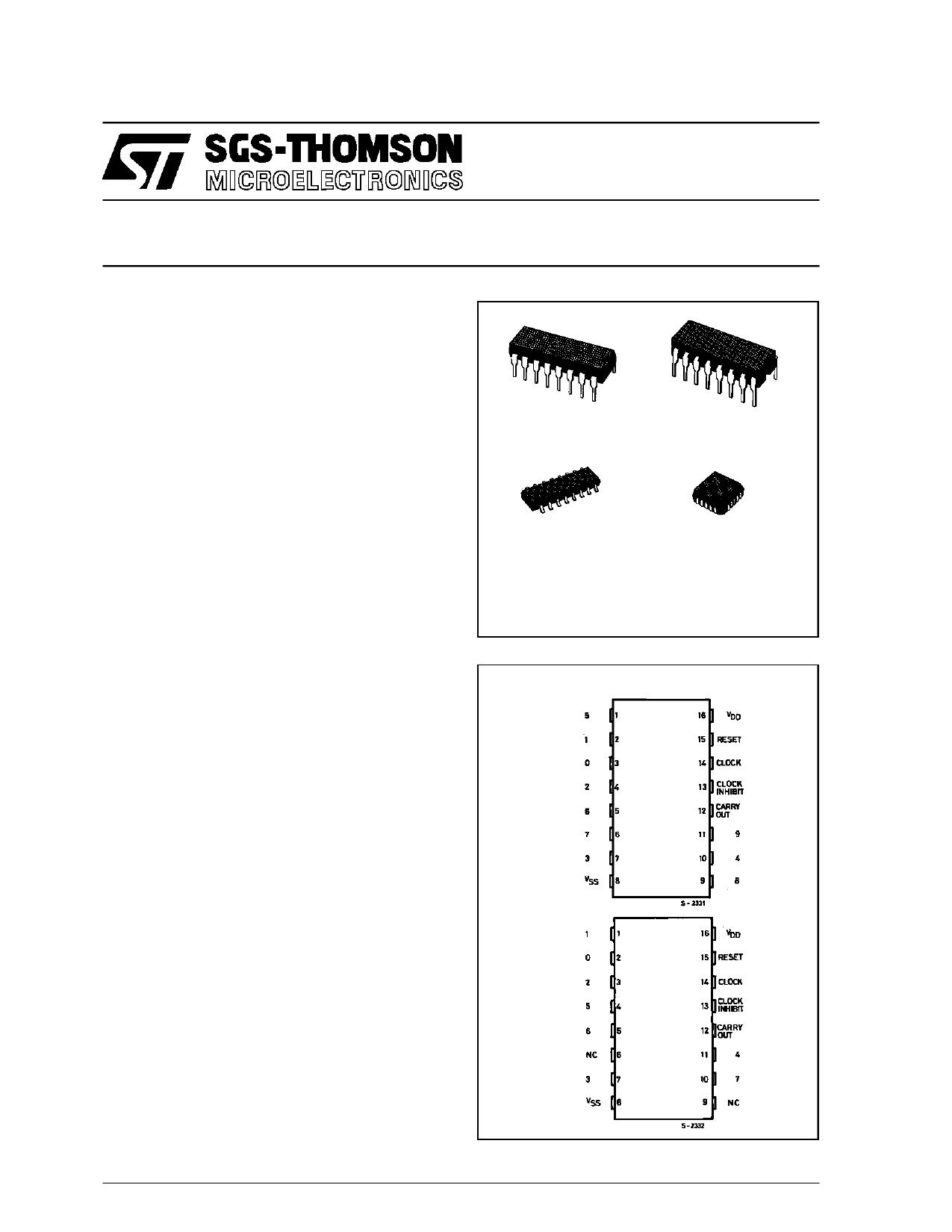 HCC4017B دیتاشیت PDF
