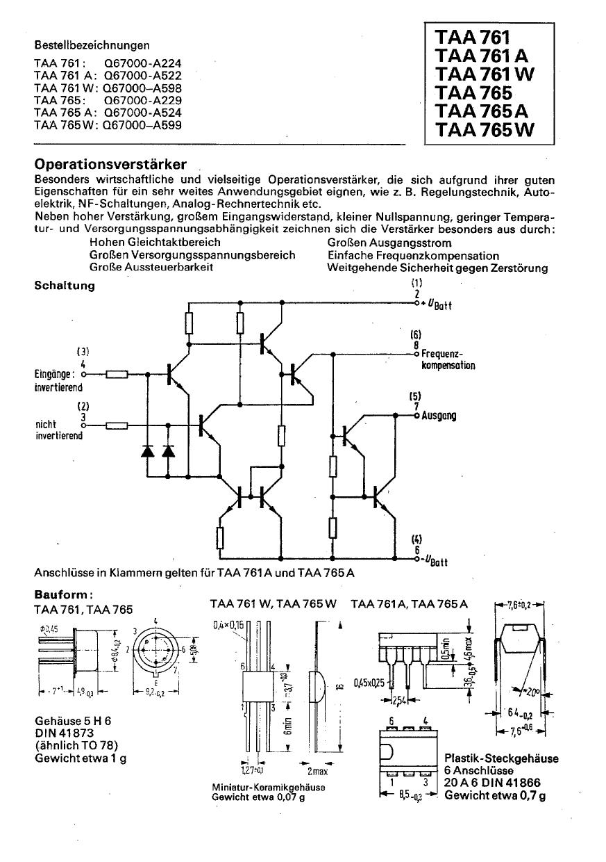 TAA765A Datenblatt PDF