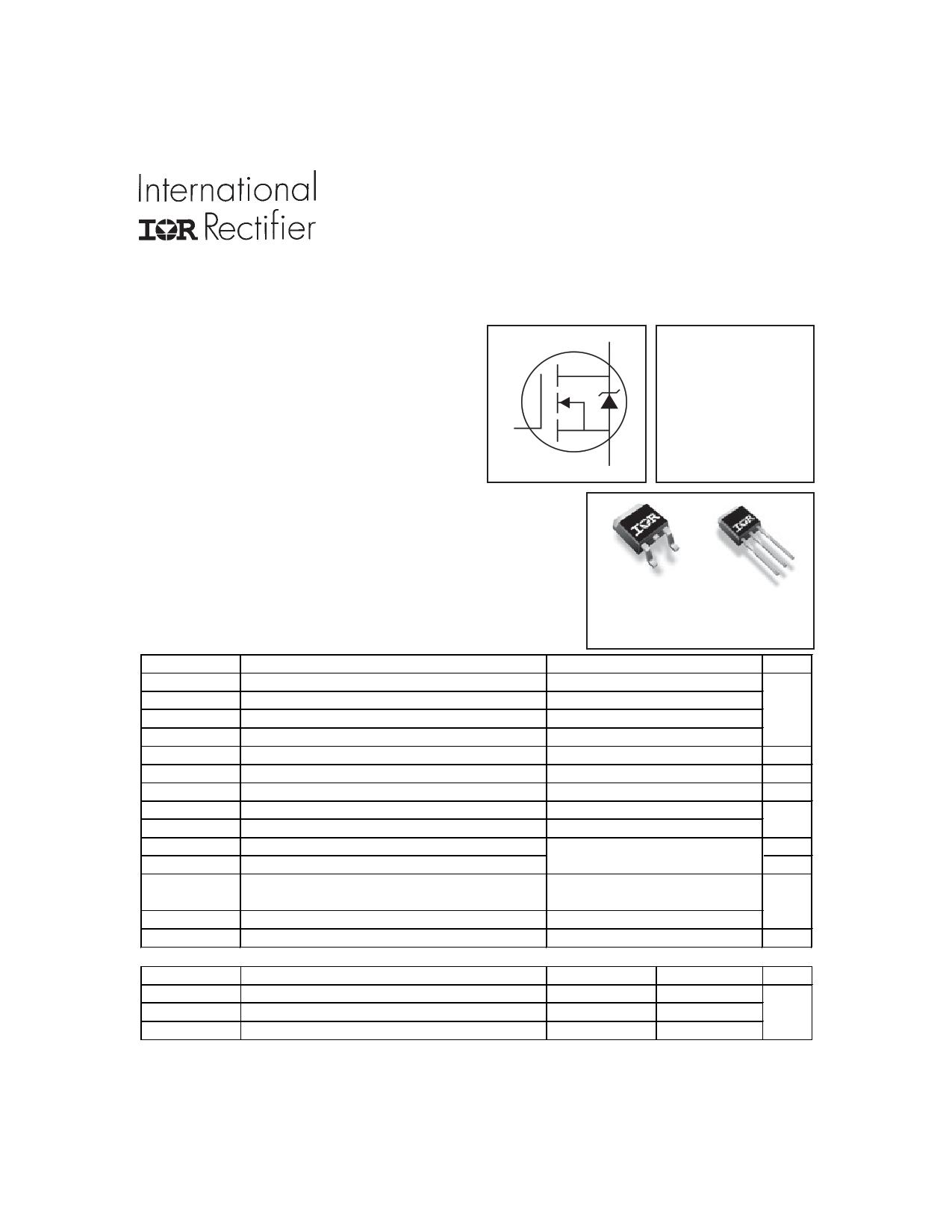 IRFU2307Z Datasheet, IRFU2307Z PDF,ピン配置, 機能