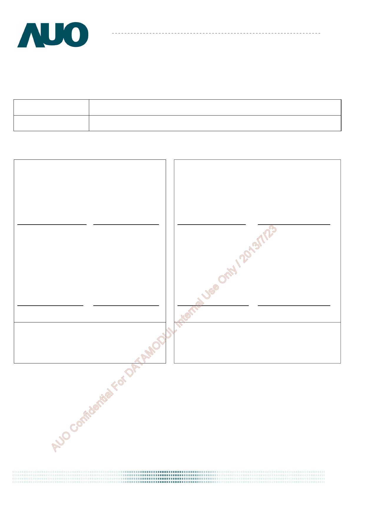 G043FW01.0 Hoja de datos, Descripción, Manual