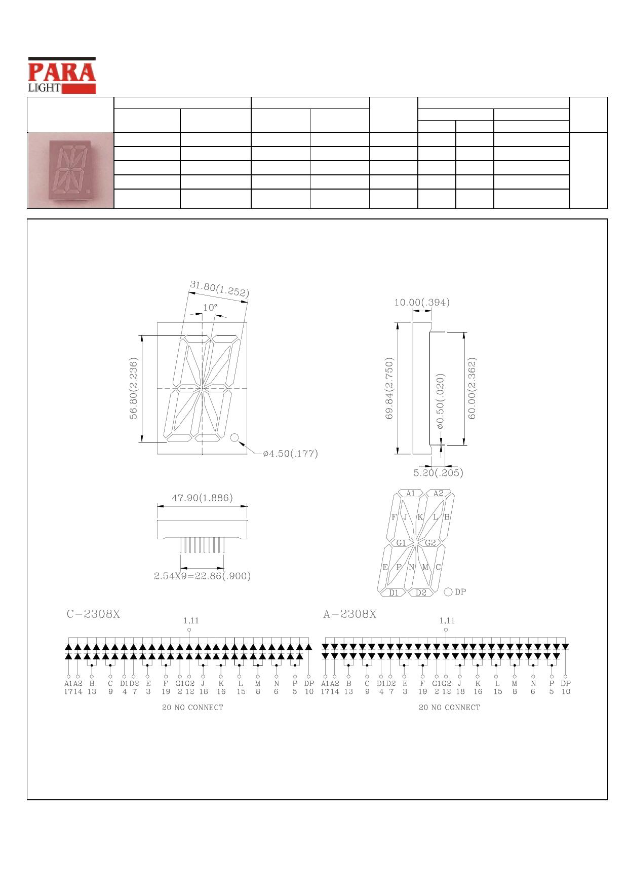 C-2308H Datenblatt PDF