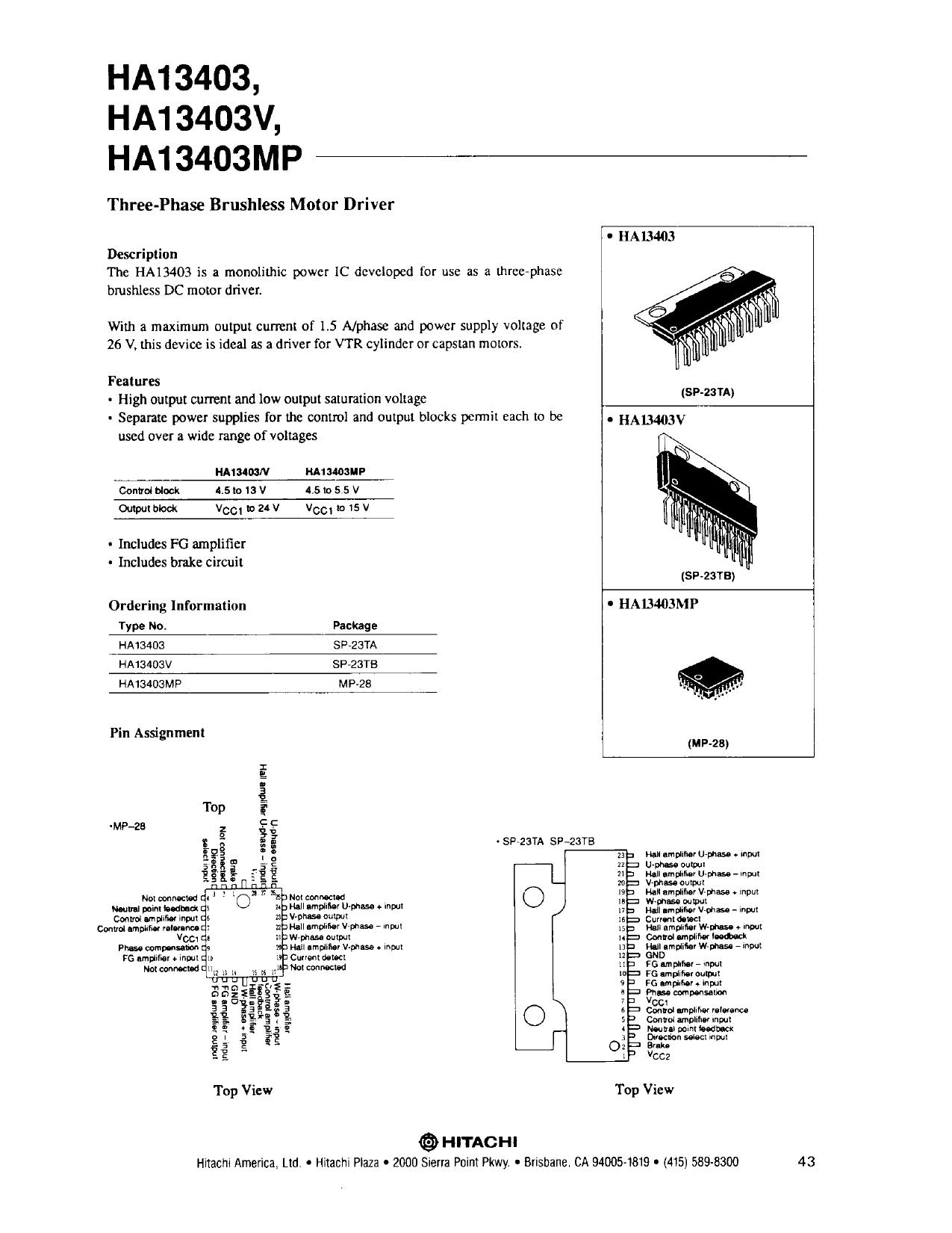 HA13403MP دیتاشیت PDF