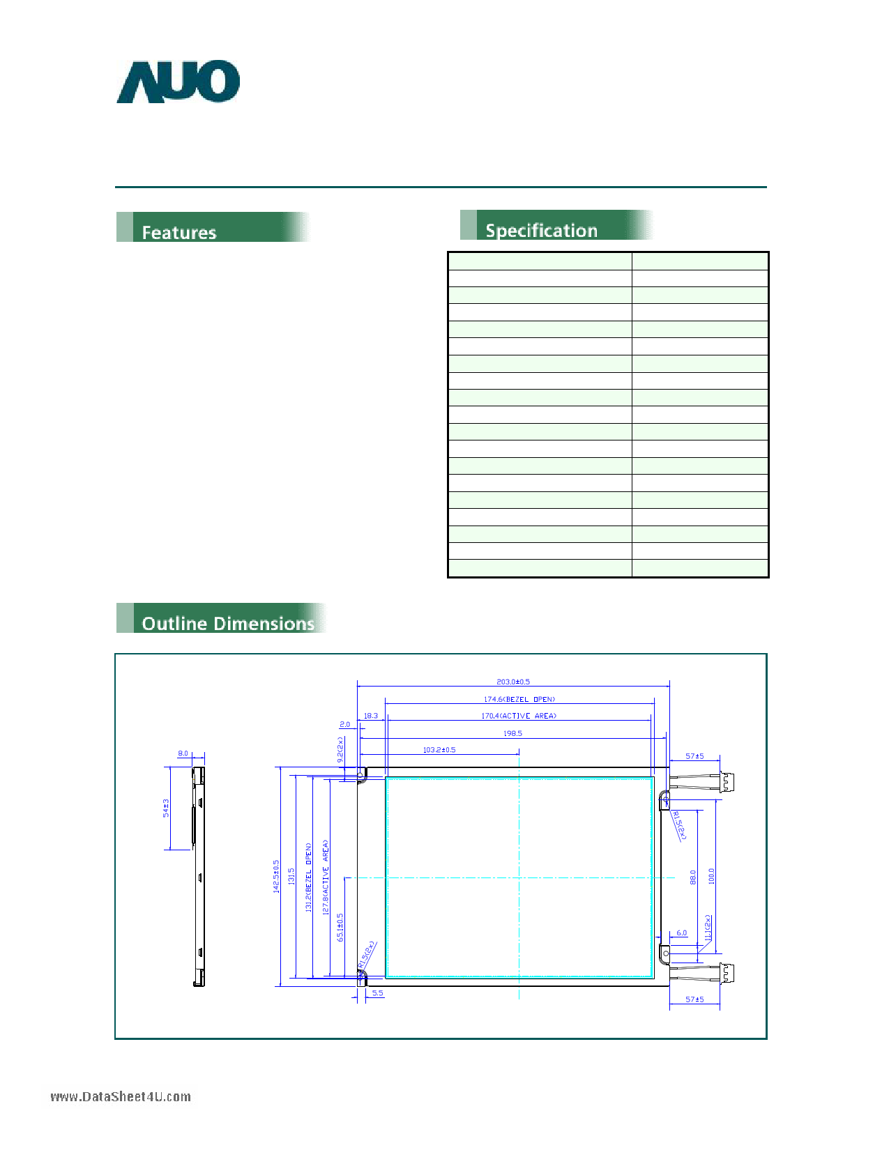 G084SN05 دیتاشیت PDF