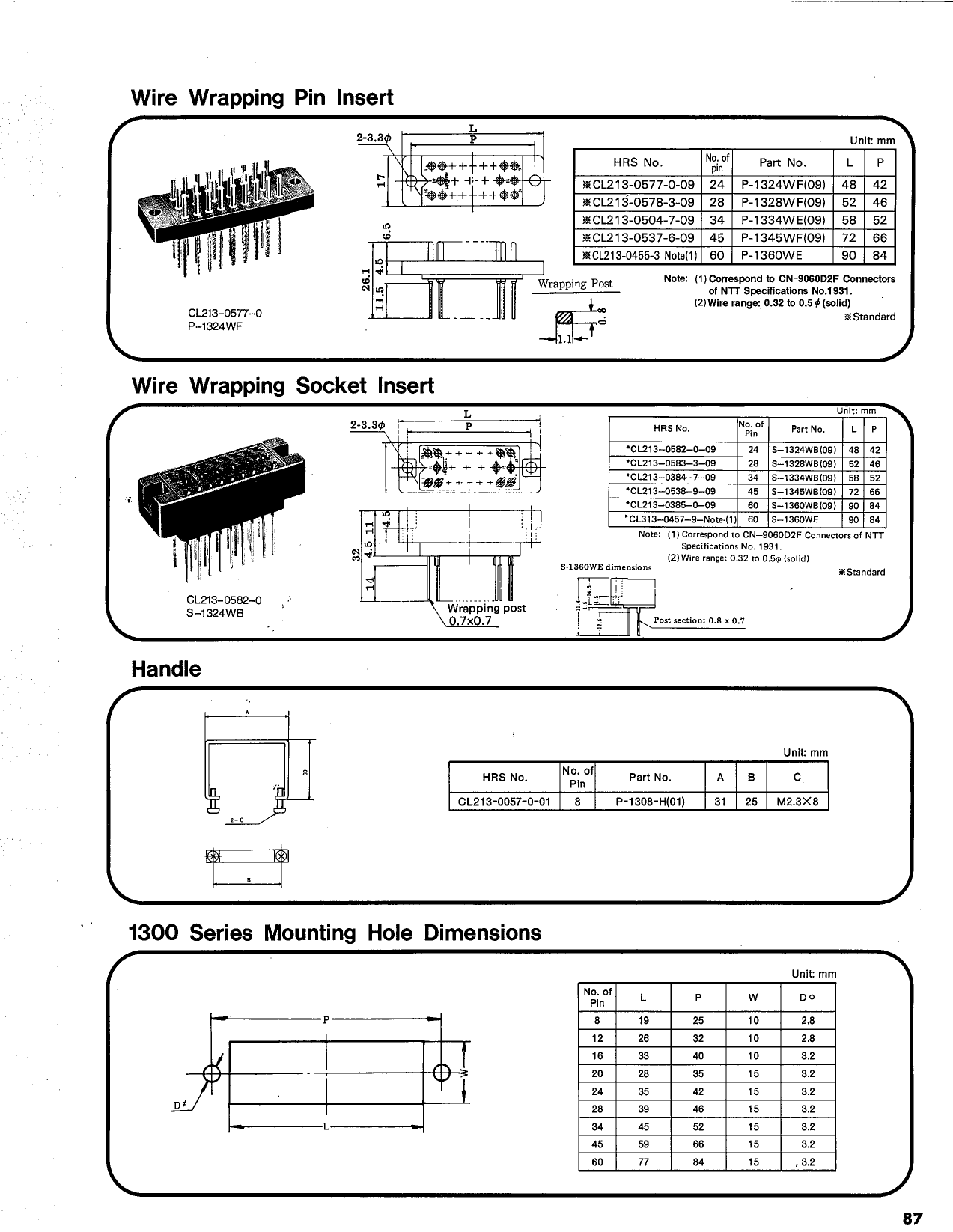 P-1334W-SB 電子部品, 半導体