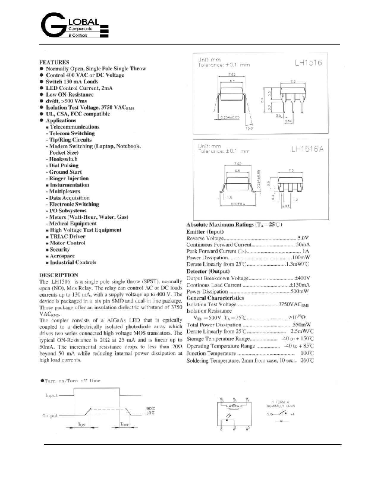 LH1516 دیتاشیت PDF