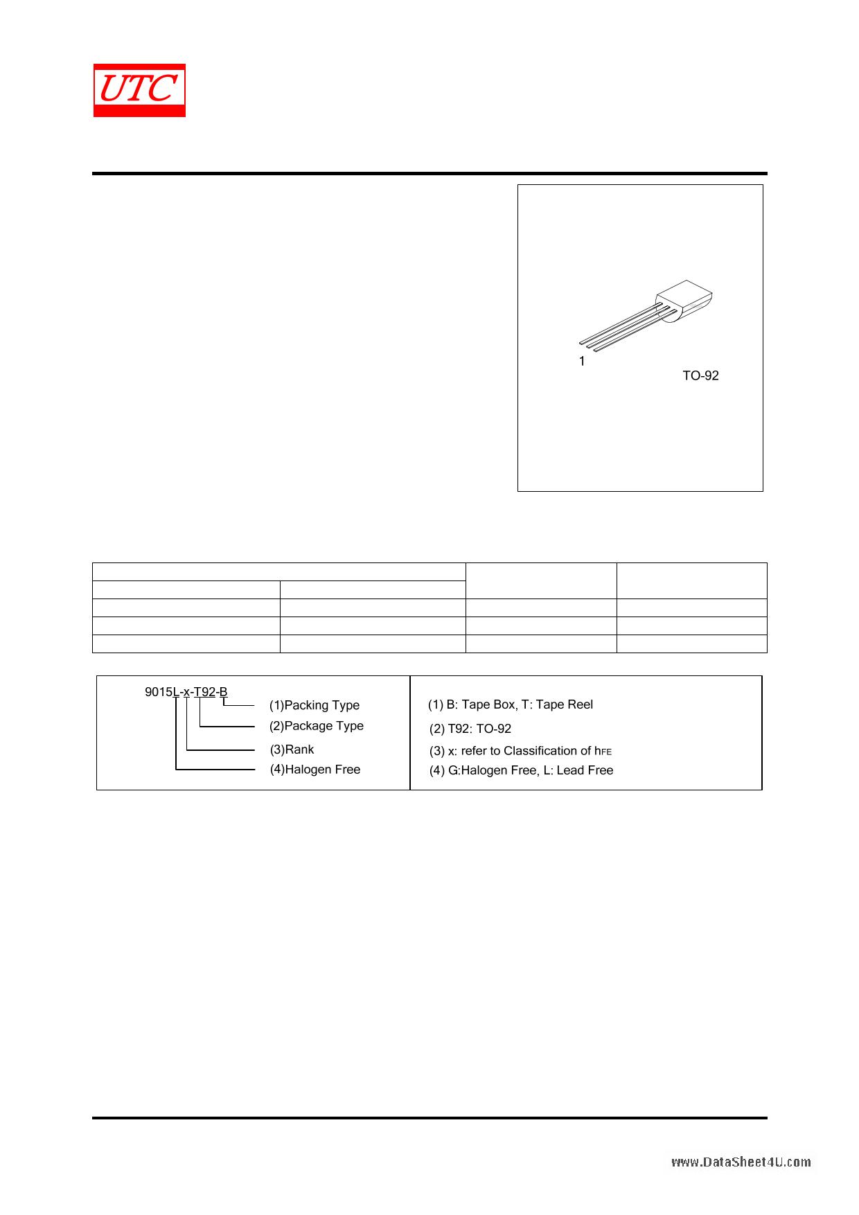 9015 datasheet