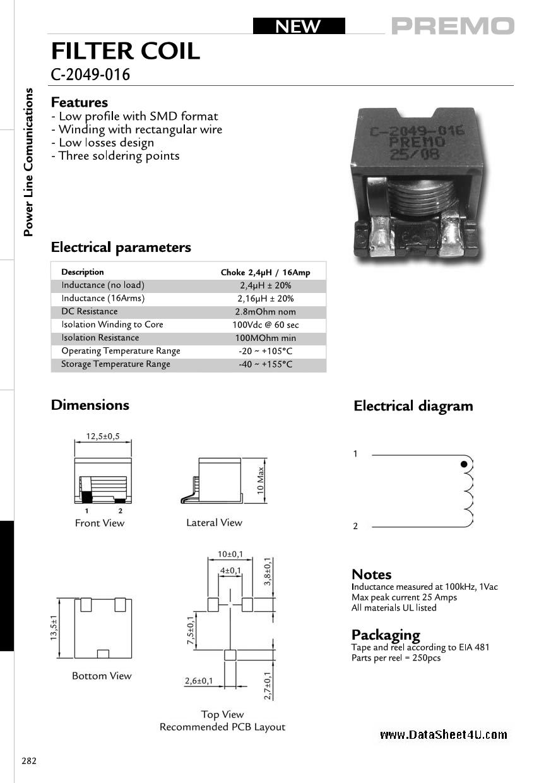 C-2049-016 datasheet