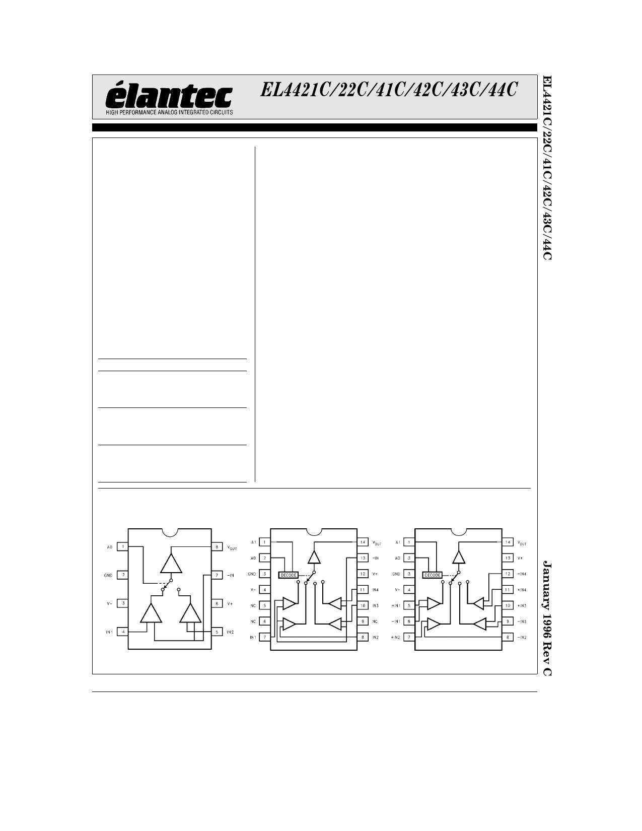 EL4441CN دیتاشیت PDF