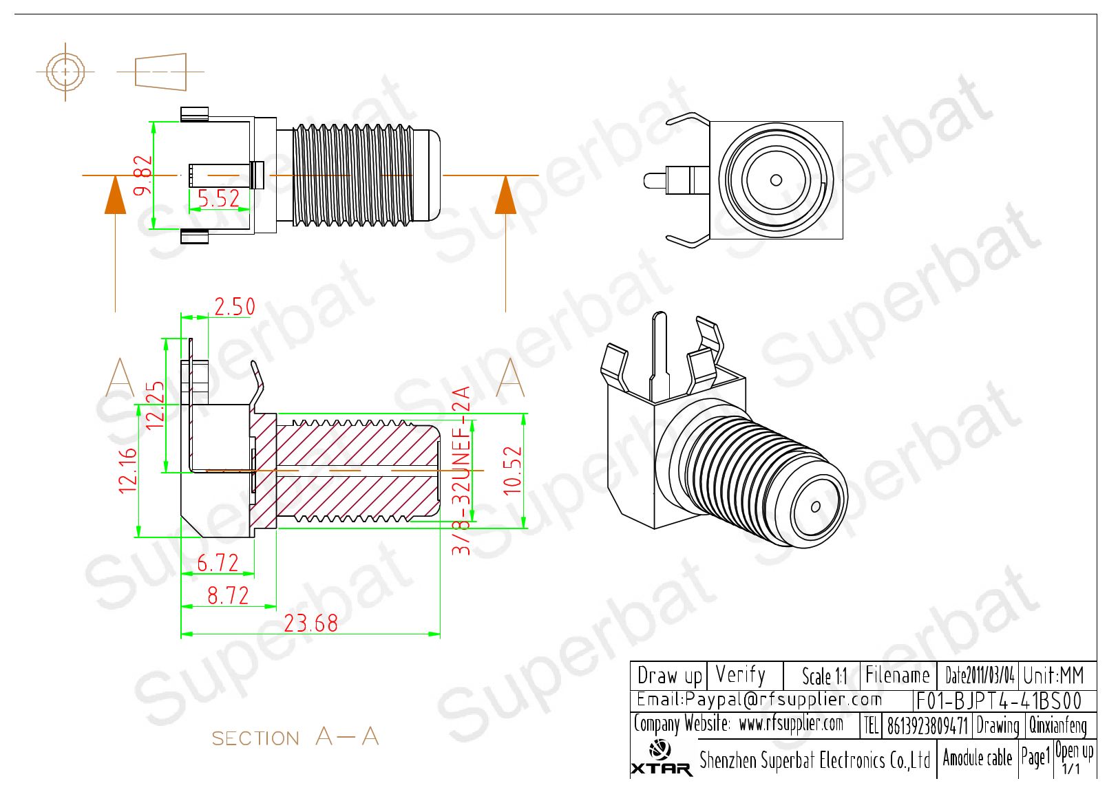 F01-BJPT4-41BS00 datasheet