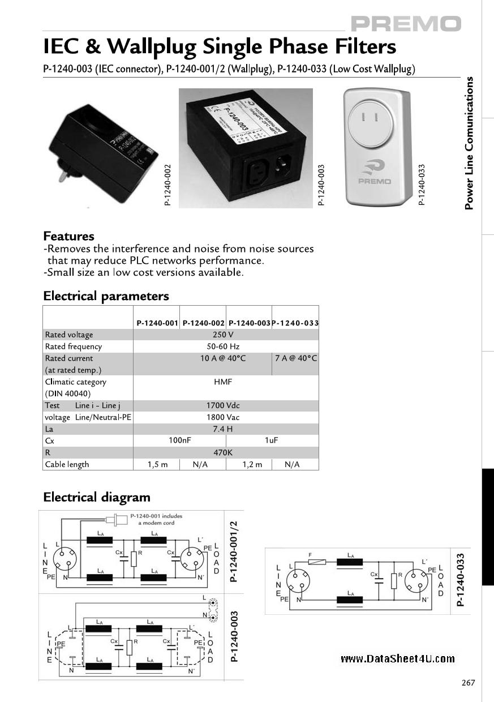 P-1240-0XX دیتاشیت PDF