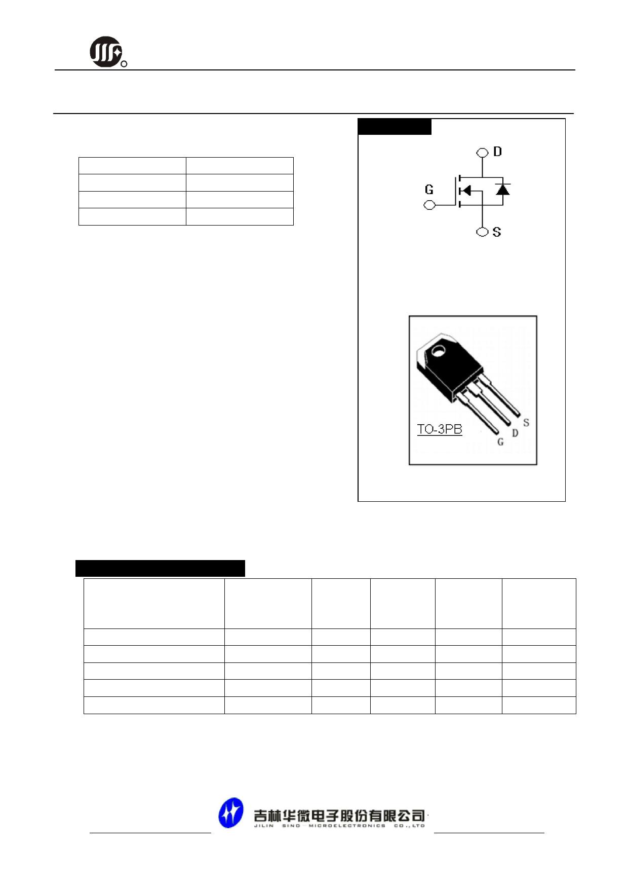 JCS65N20ABT datasheet