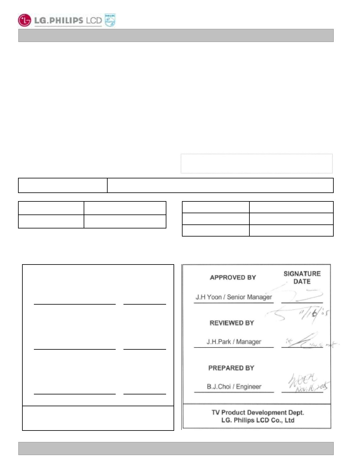 LC320W01-SL05 datasheet
