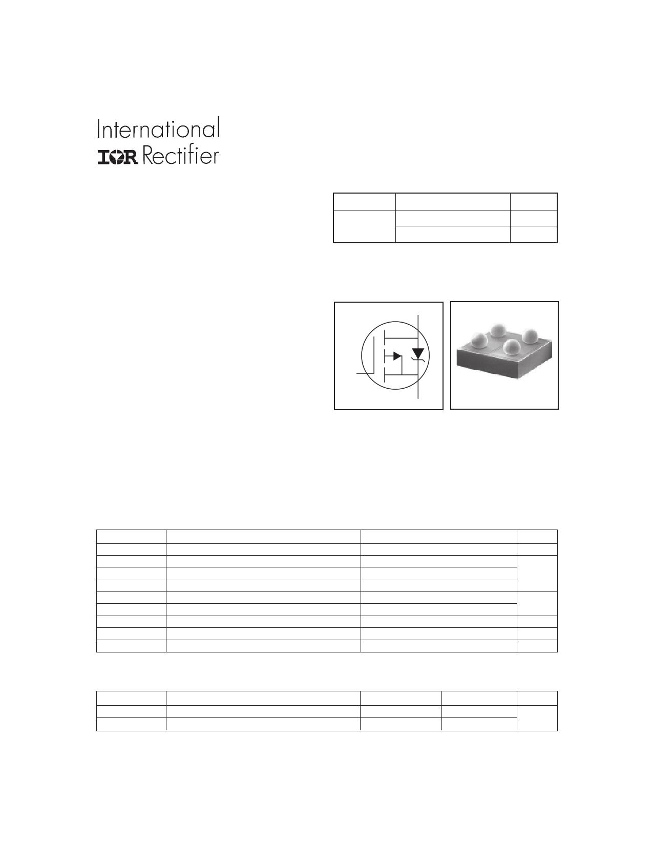 IRF6100 Datasheet, IRF6100 PDF,ピン配置, 機能