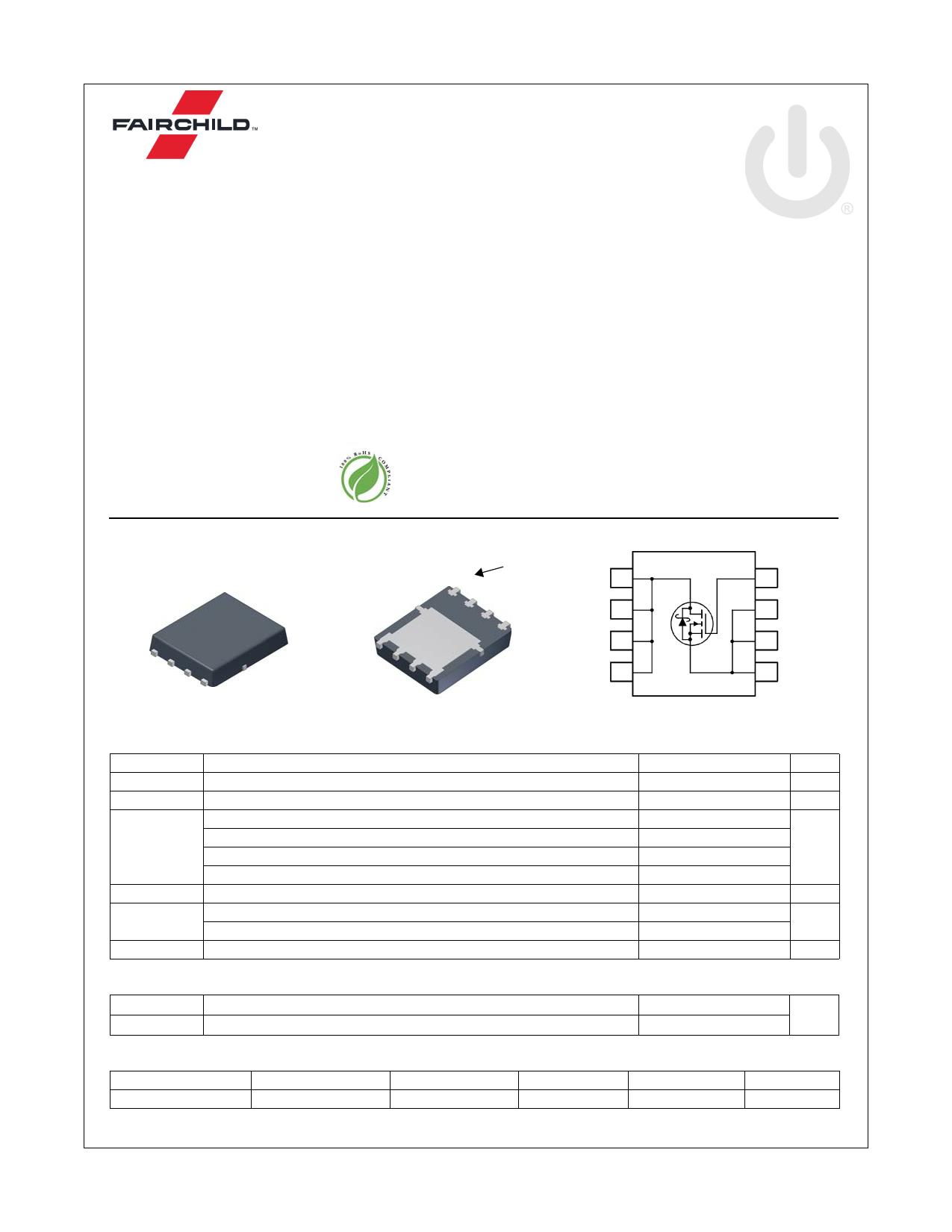 FDMS0300S 데이터시트 및 FDMS0300S PDF