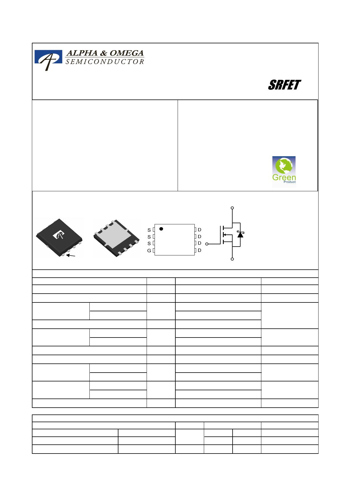 AON6708 Datasheet, AON6708 PDF,ピン配置, 機能
