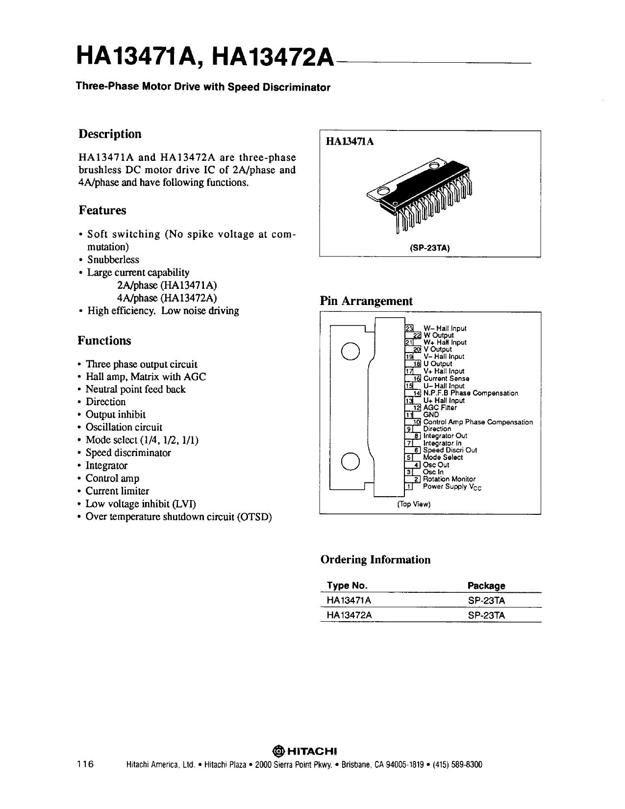 HA13471A دیتاشیت PDF