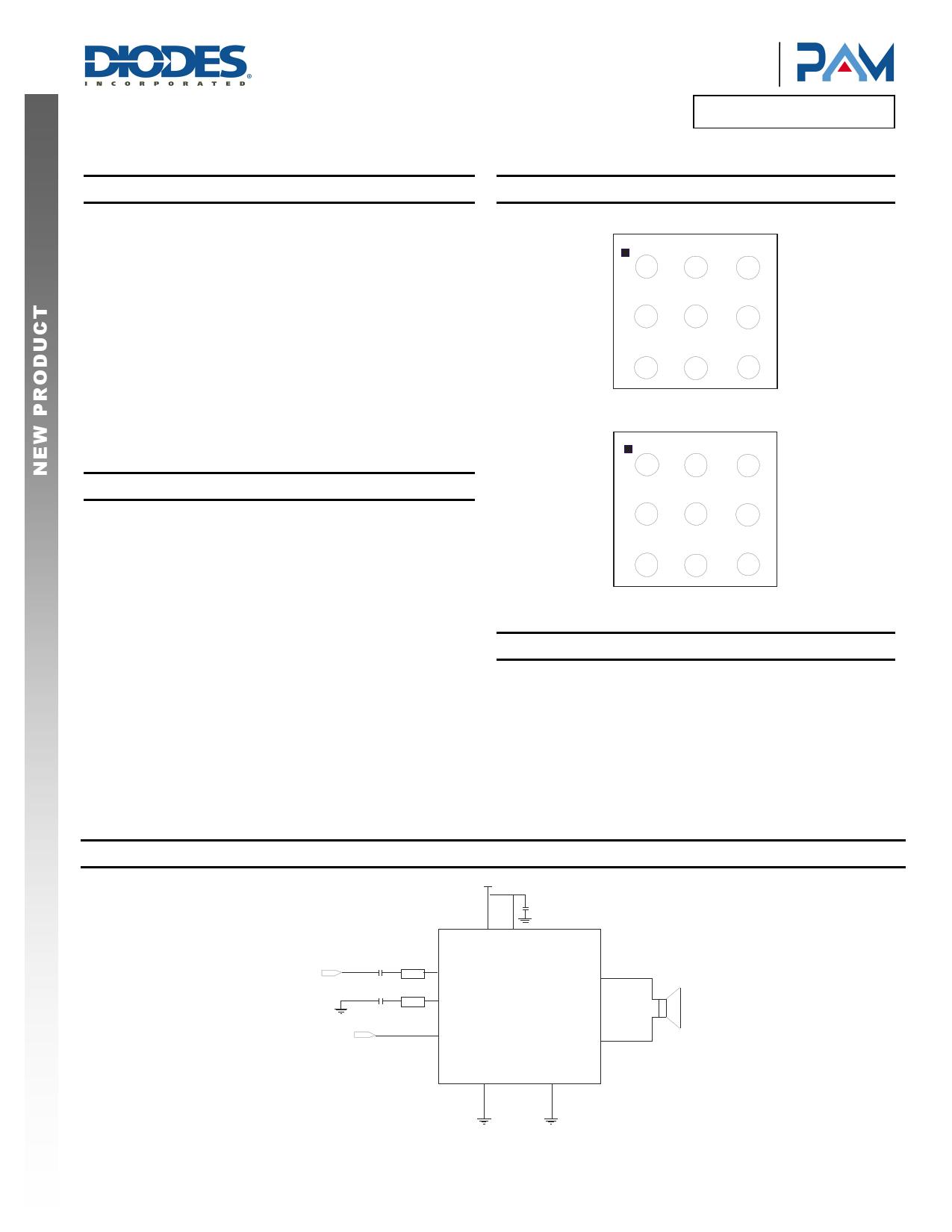 PAM8015 دیتاشیت PDF
