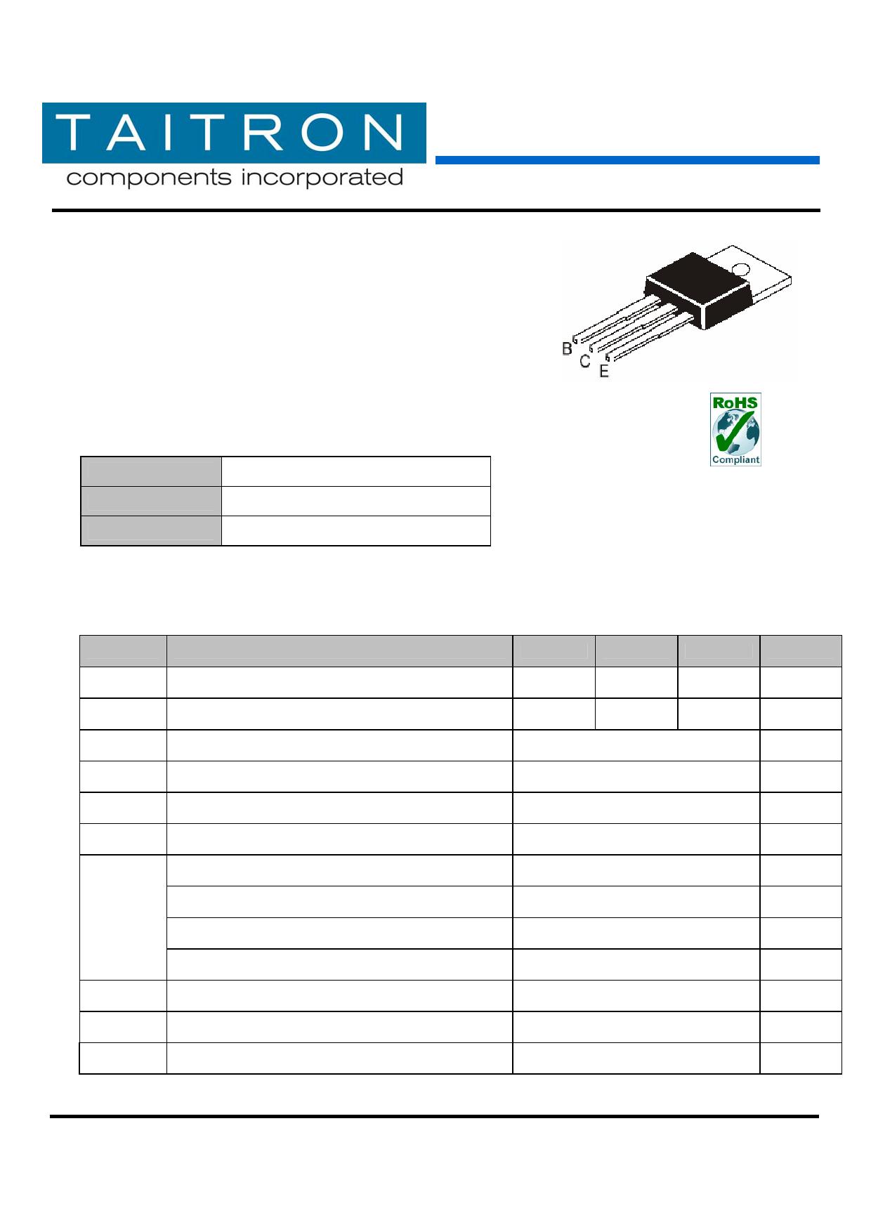 TIP127 datasheet pinout