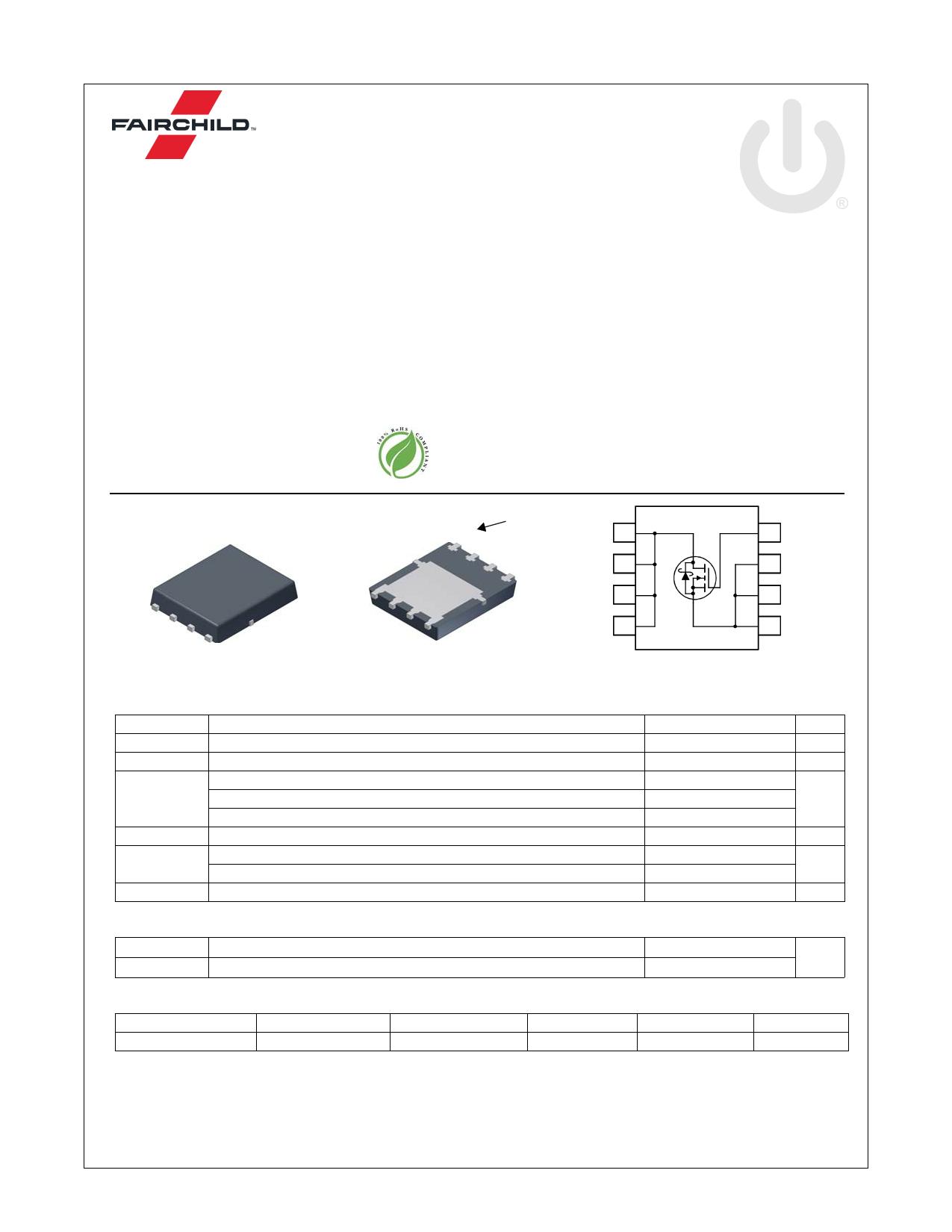 FDMS8558S 데이터시트 및 FDMS8558S PDF
