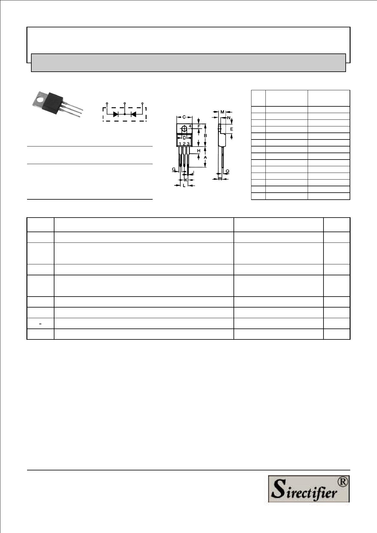 STPRF1610CT Datasheet