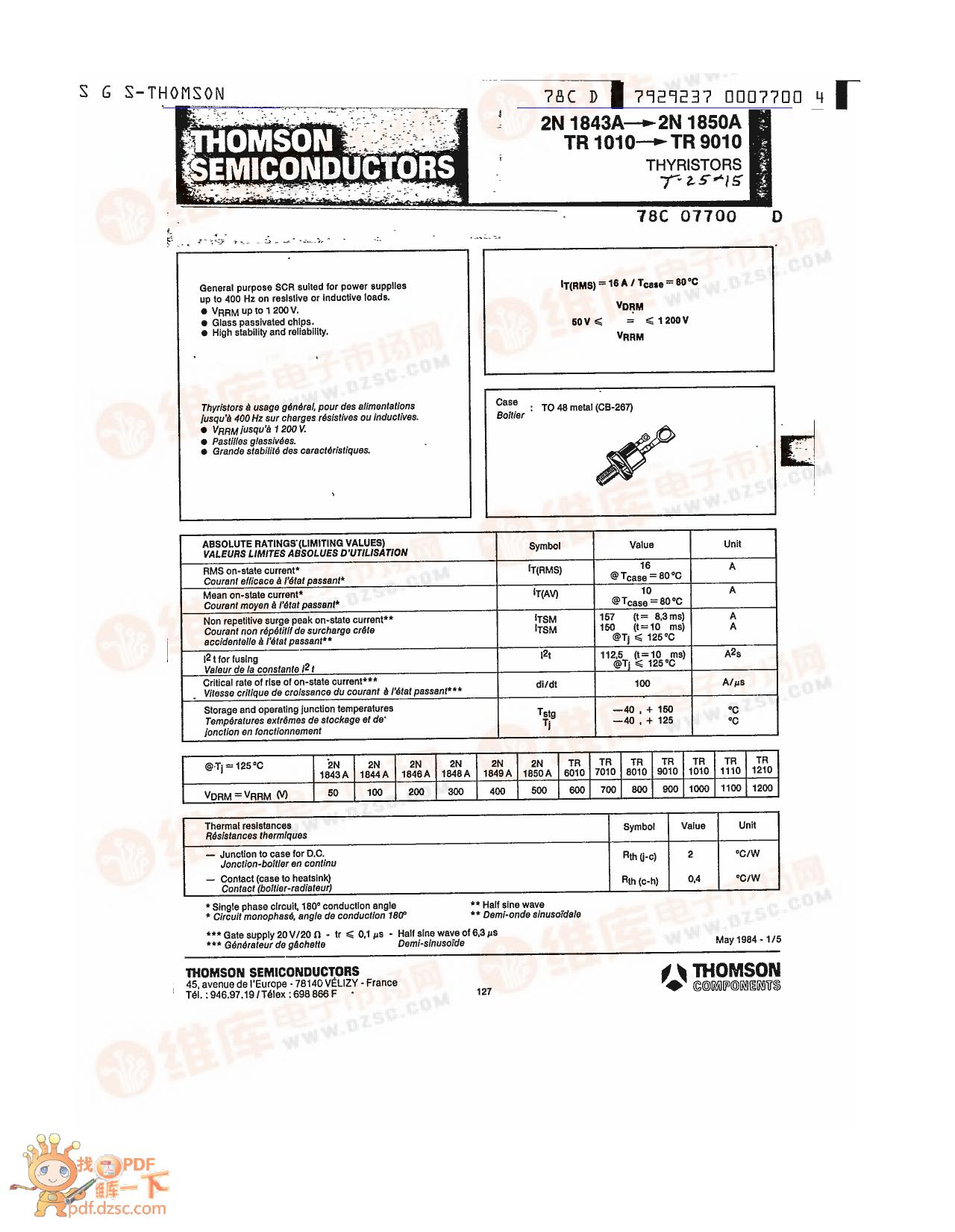 2N1846A دیتاشیت PDF