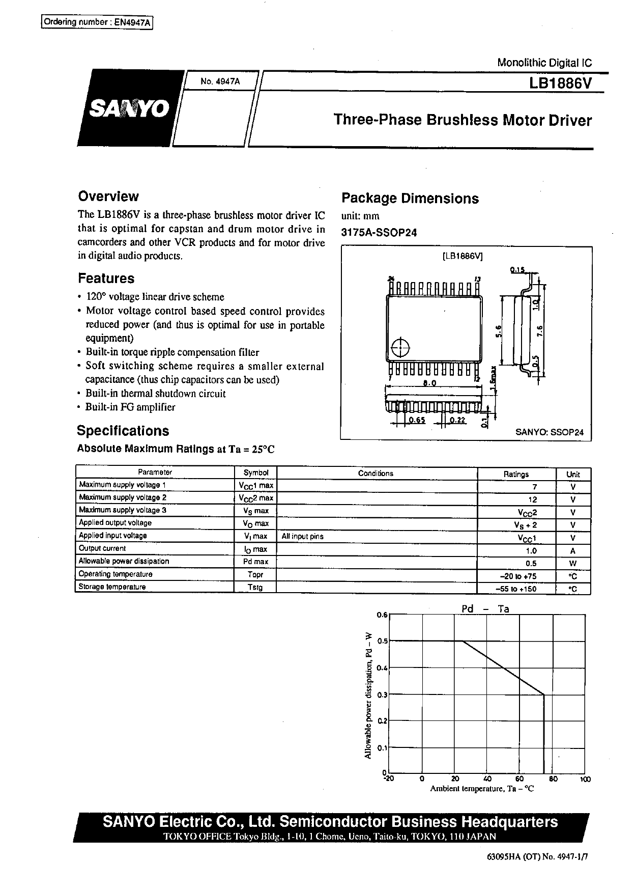 LB1886V datasheet