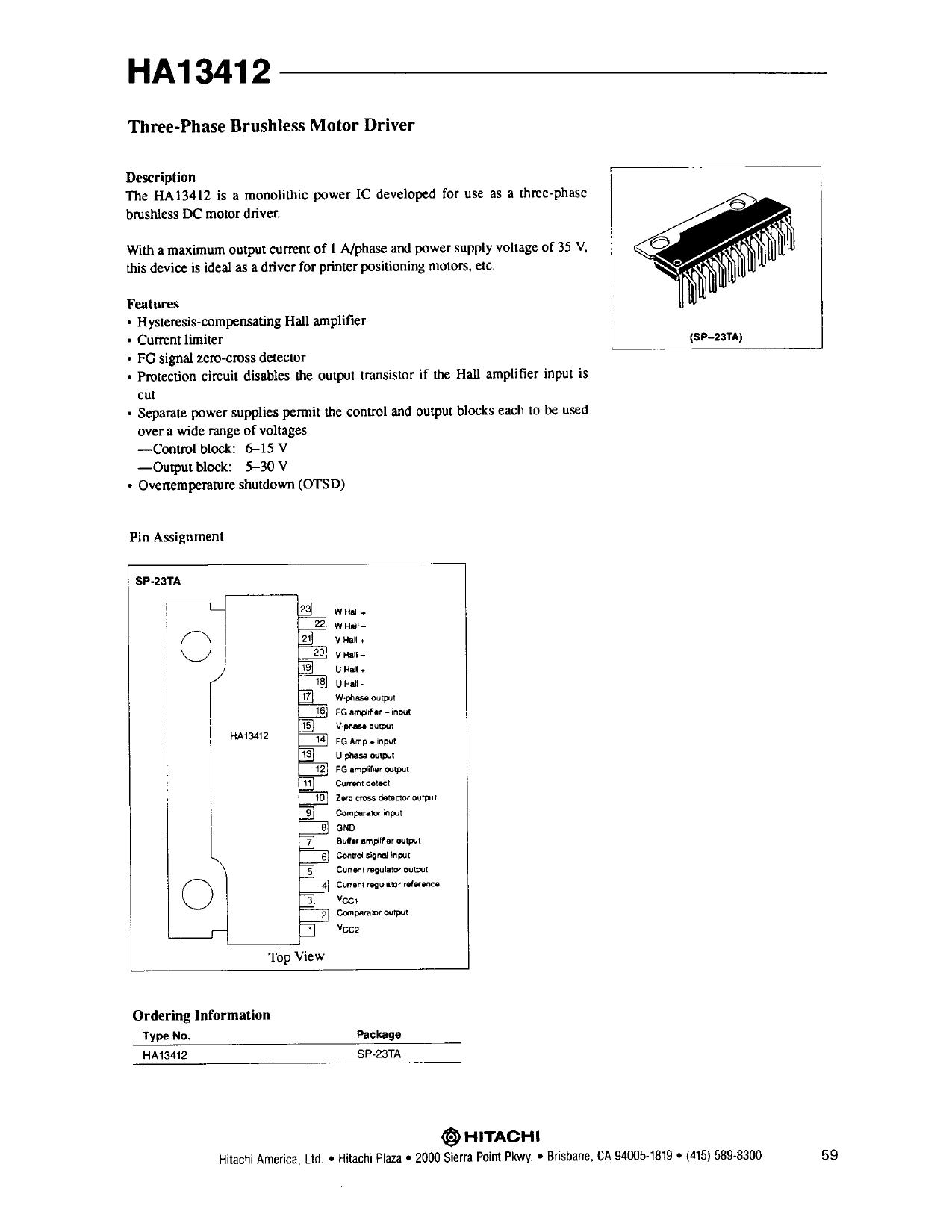 HA13412 دیتاشیت PDF