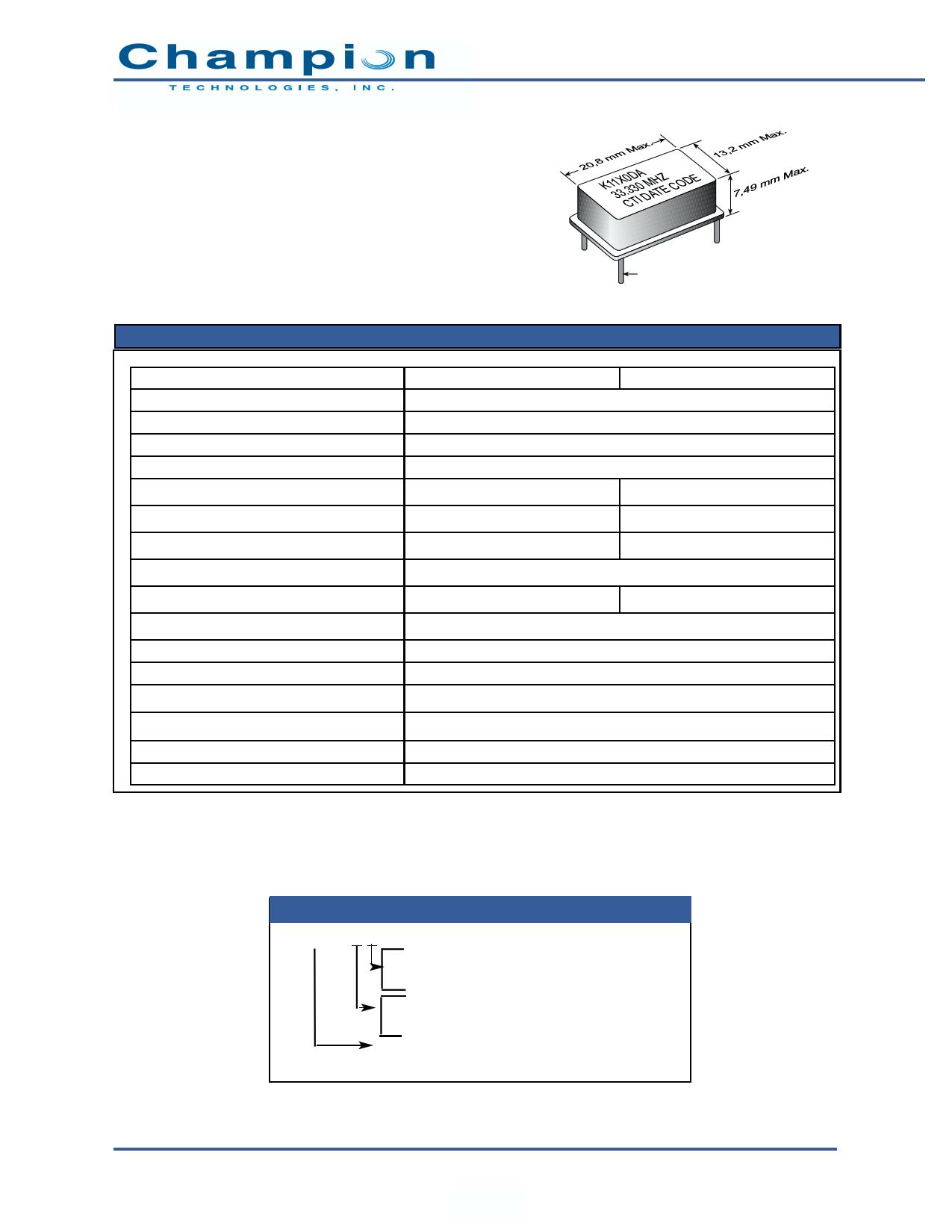 K1110D دیتاشیت PDF