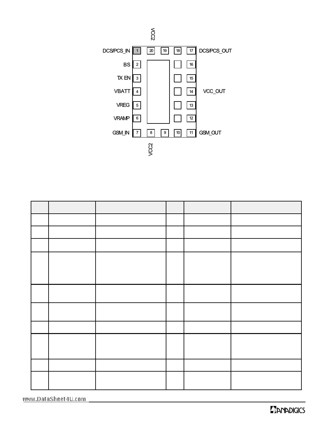 AWT6108 pdf, schematic