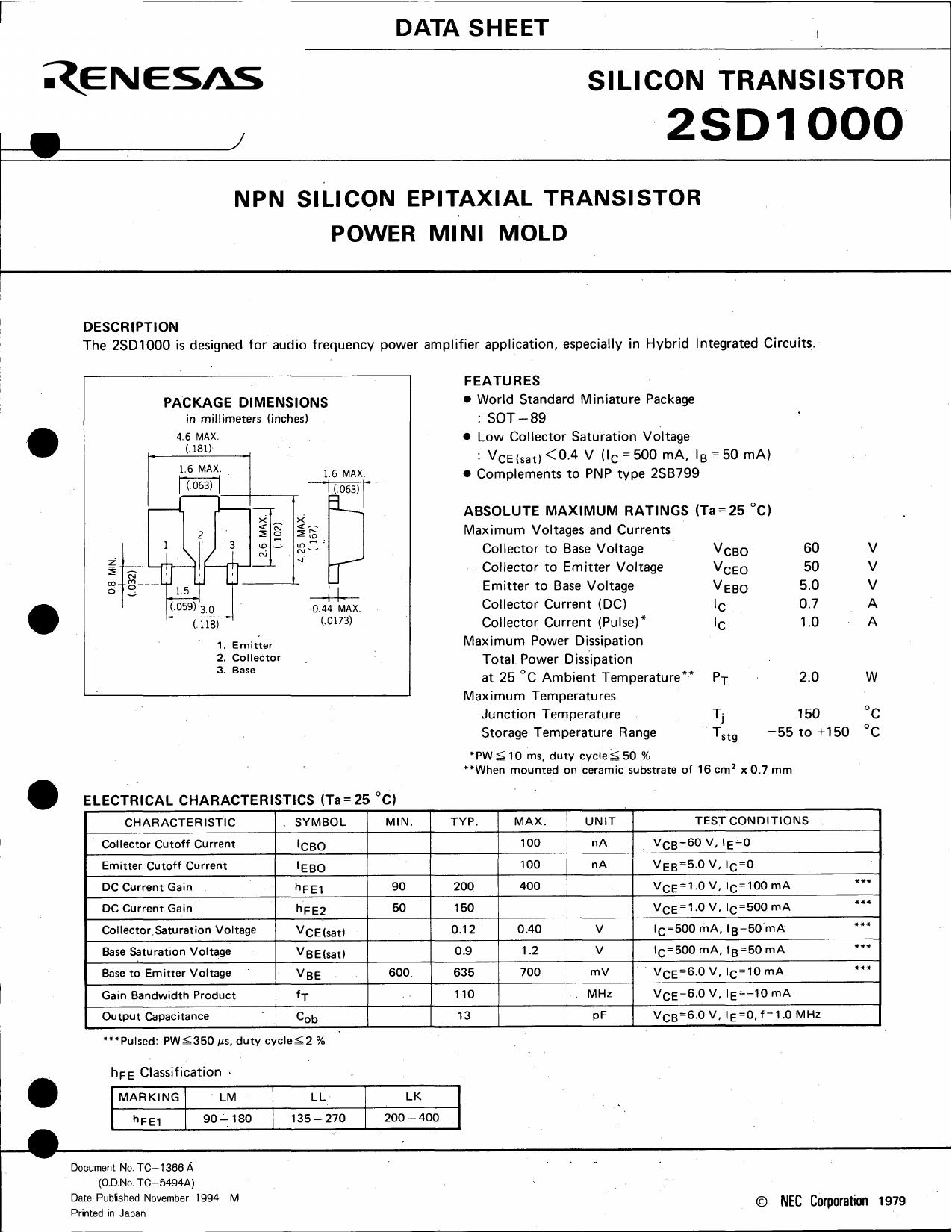 D1000 دیتاشیت PDF