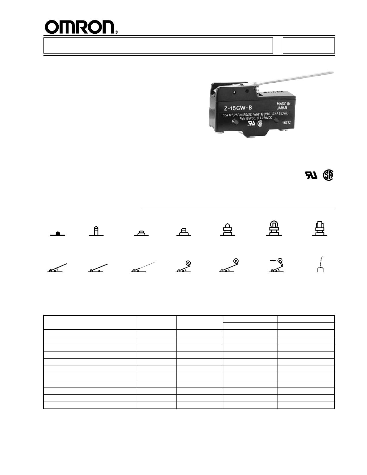 Z-15GW-B دیتاشیت PDF