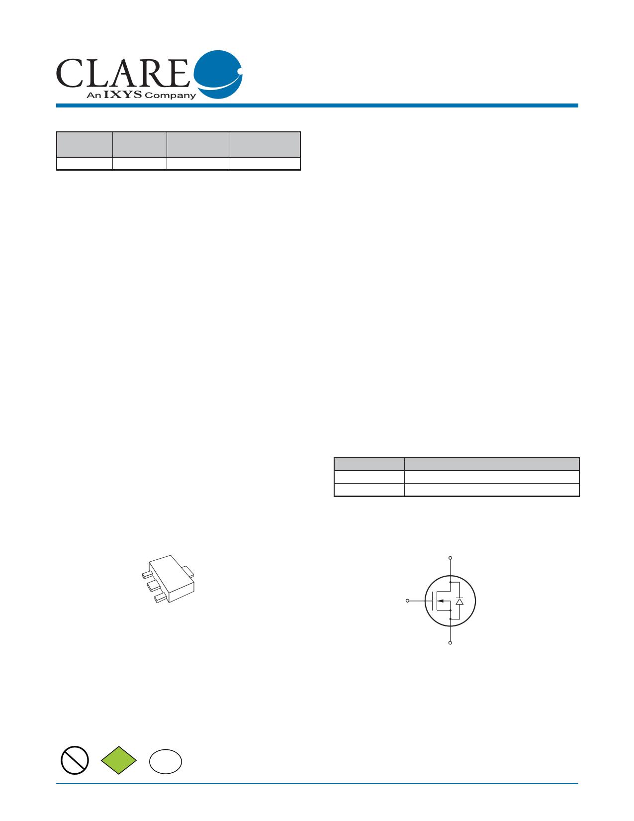 CPC3703 Datasheet, CPC3703 PDF,ピン配置, 機能