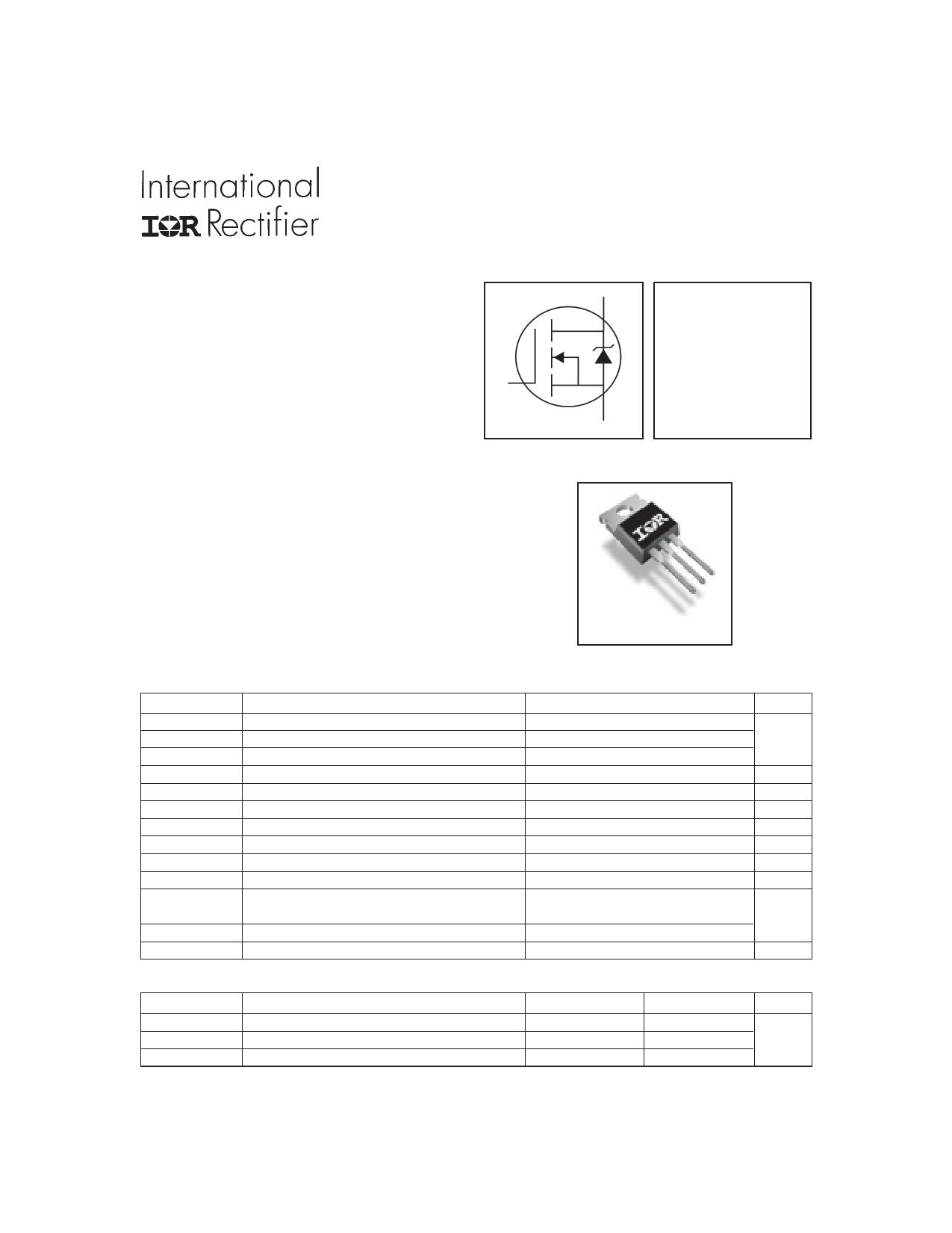IRFZ48VPBF Datasheet, IRFZ48VPBF PDF,ピン配置, 機能