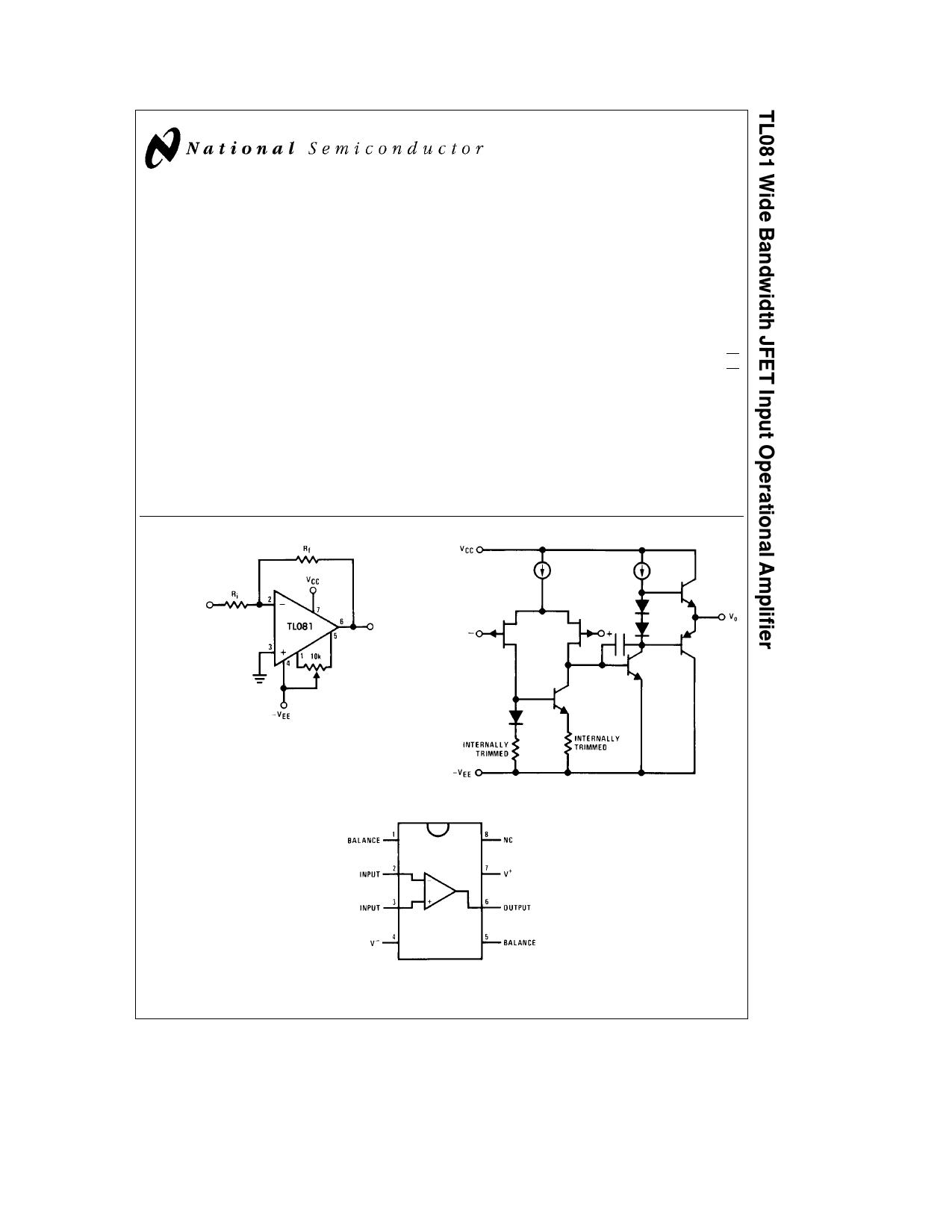 tl081 datasheet pdf   pinout