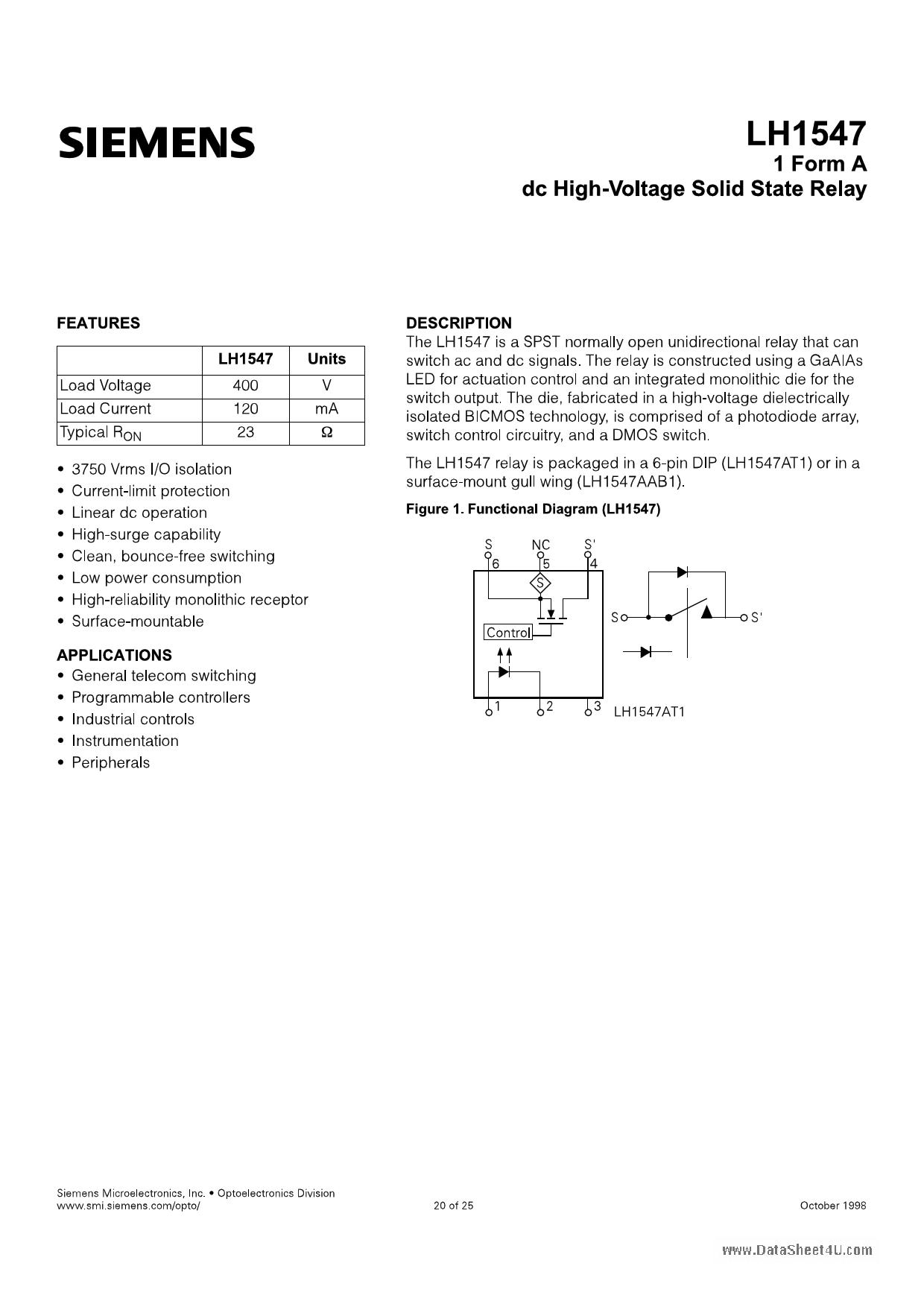 LH1547 دیتاشیت PDF