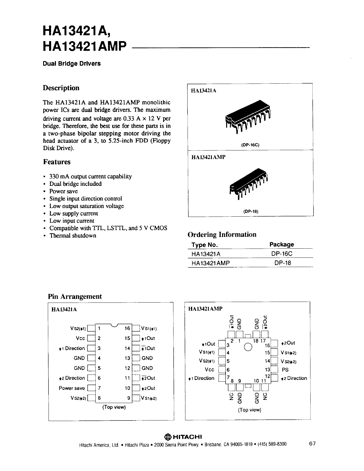 HA13421A دیتاشیت PDF