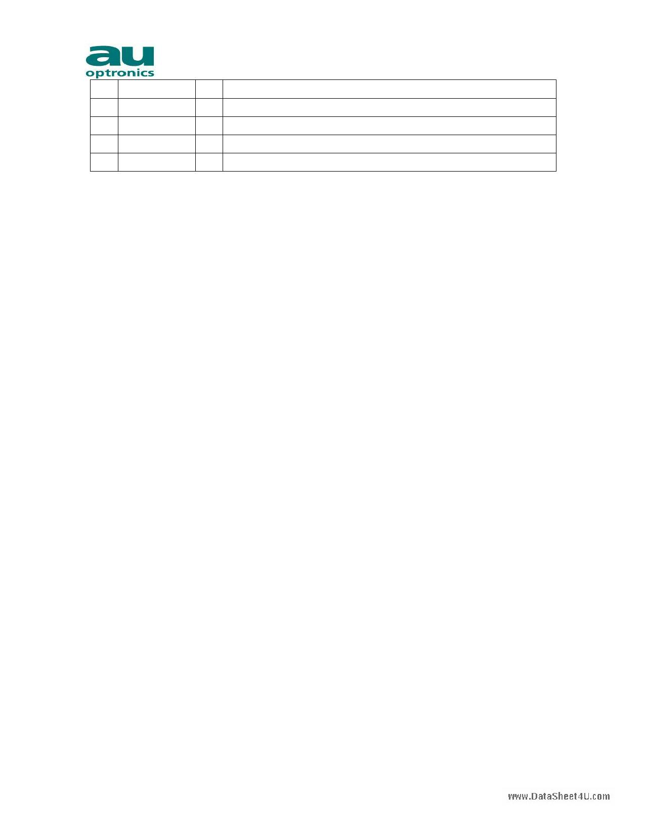 H020HN01 pdf, ピン配列