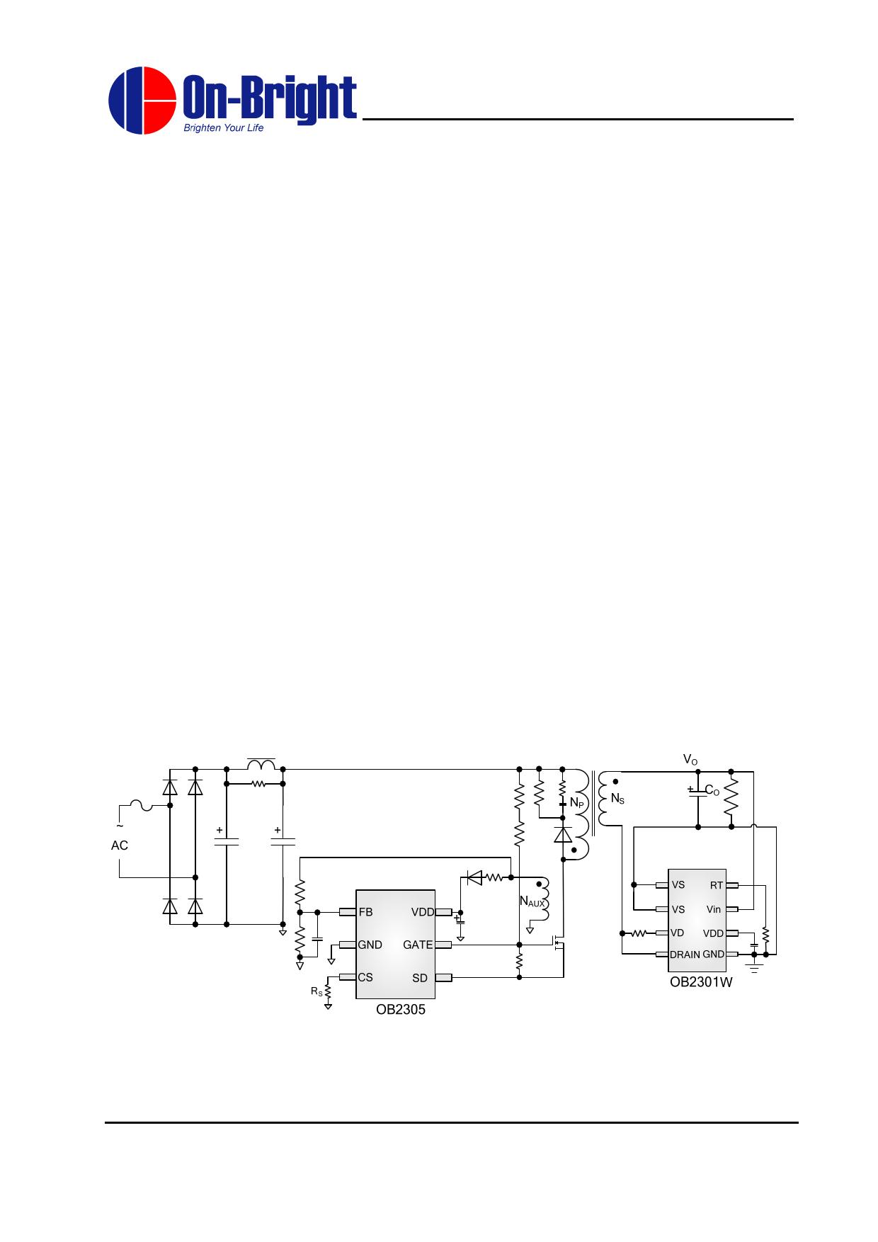 OB2301W دیتاشیت PDF